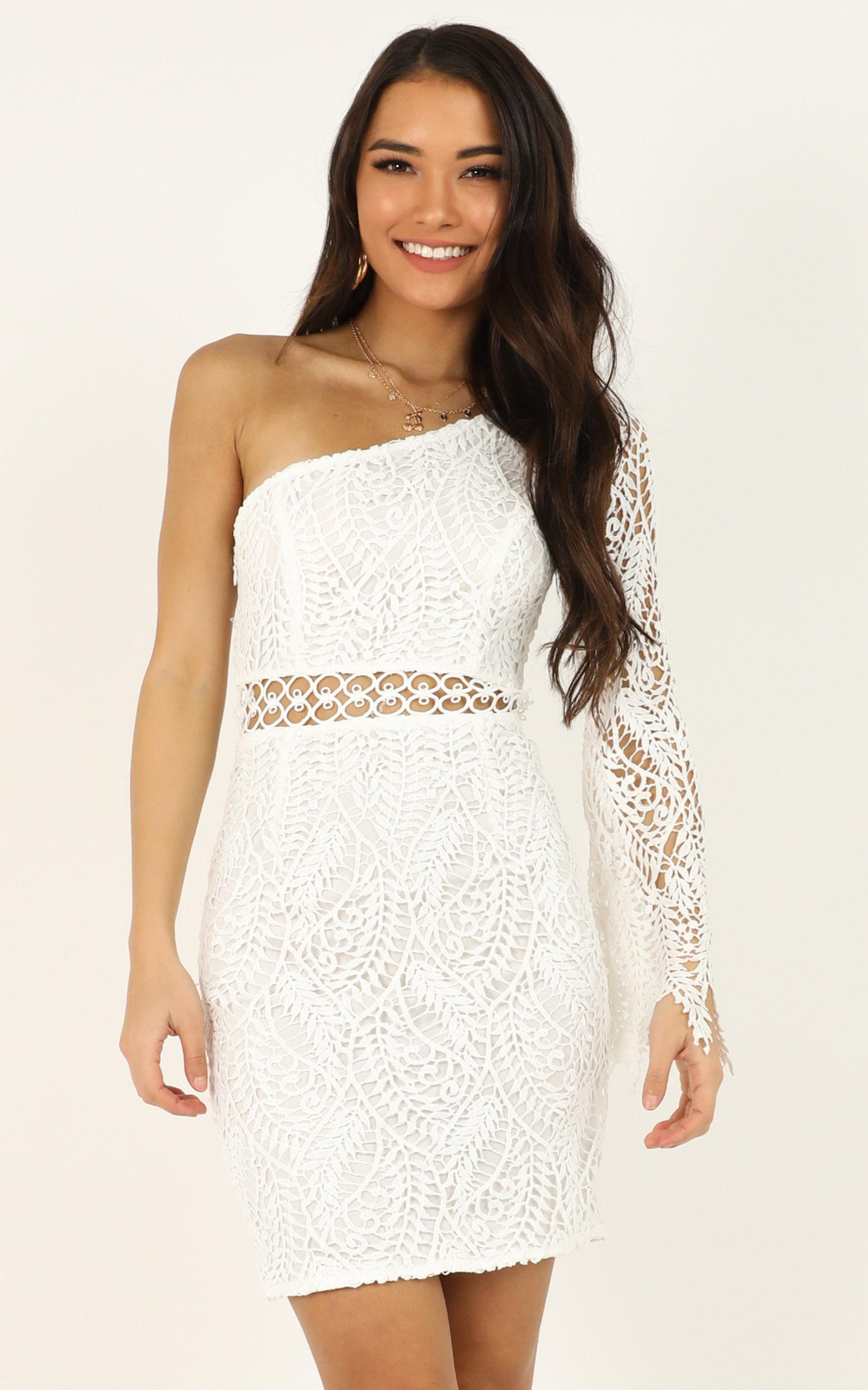 Wonderful Life dress in white lace - 12 (L), White, hi-res image number null
