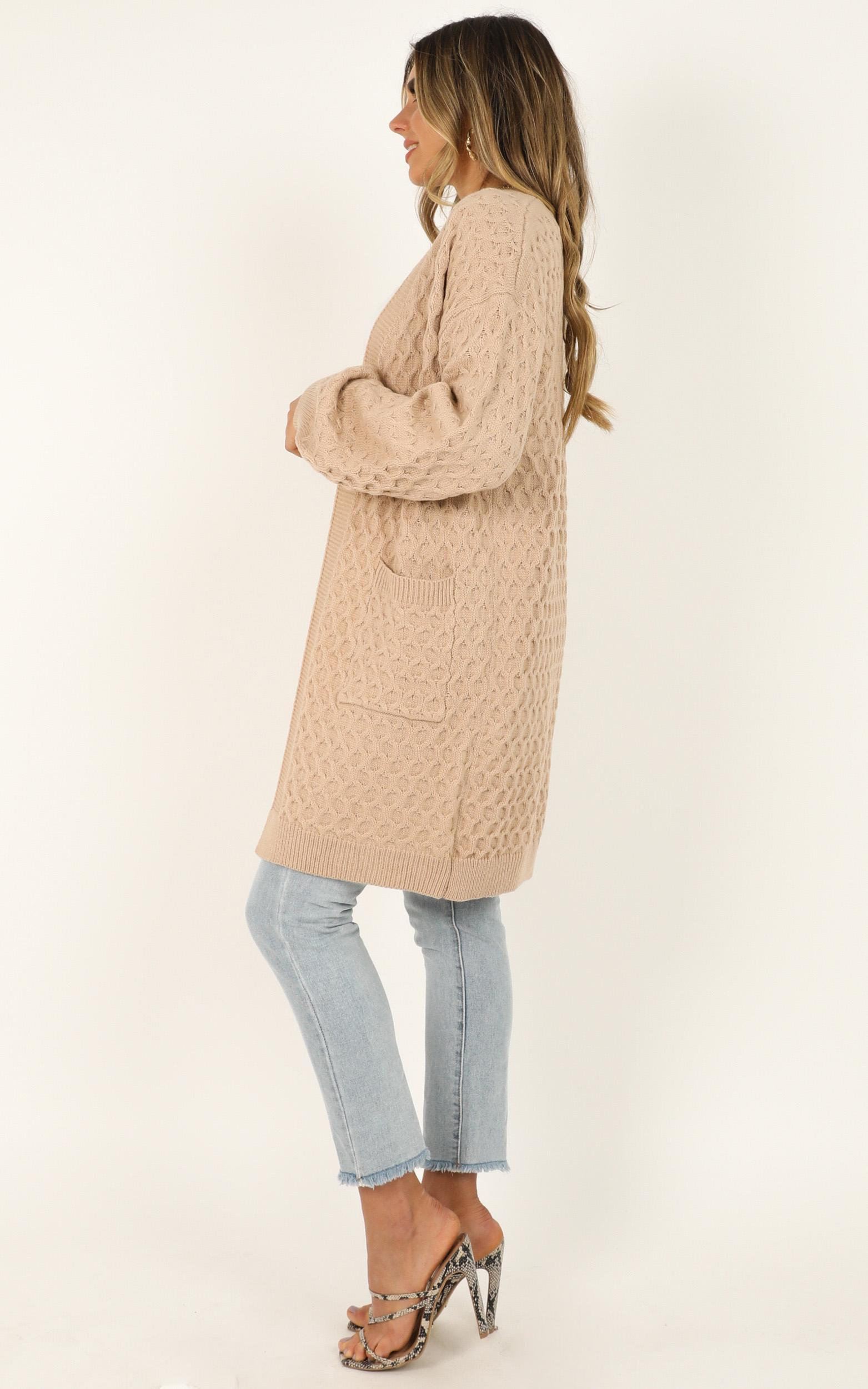 Call On You Cardigan in beige - 18 (XXXL), Beige, hi-res image number null