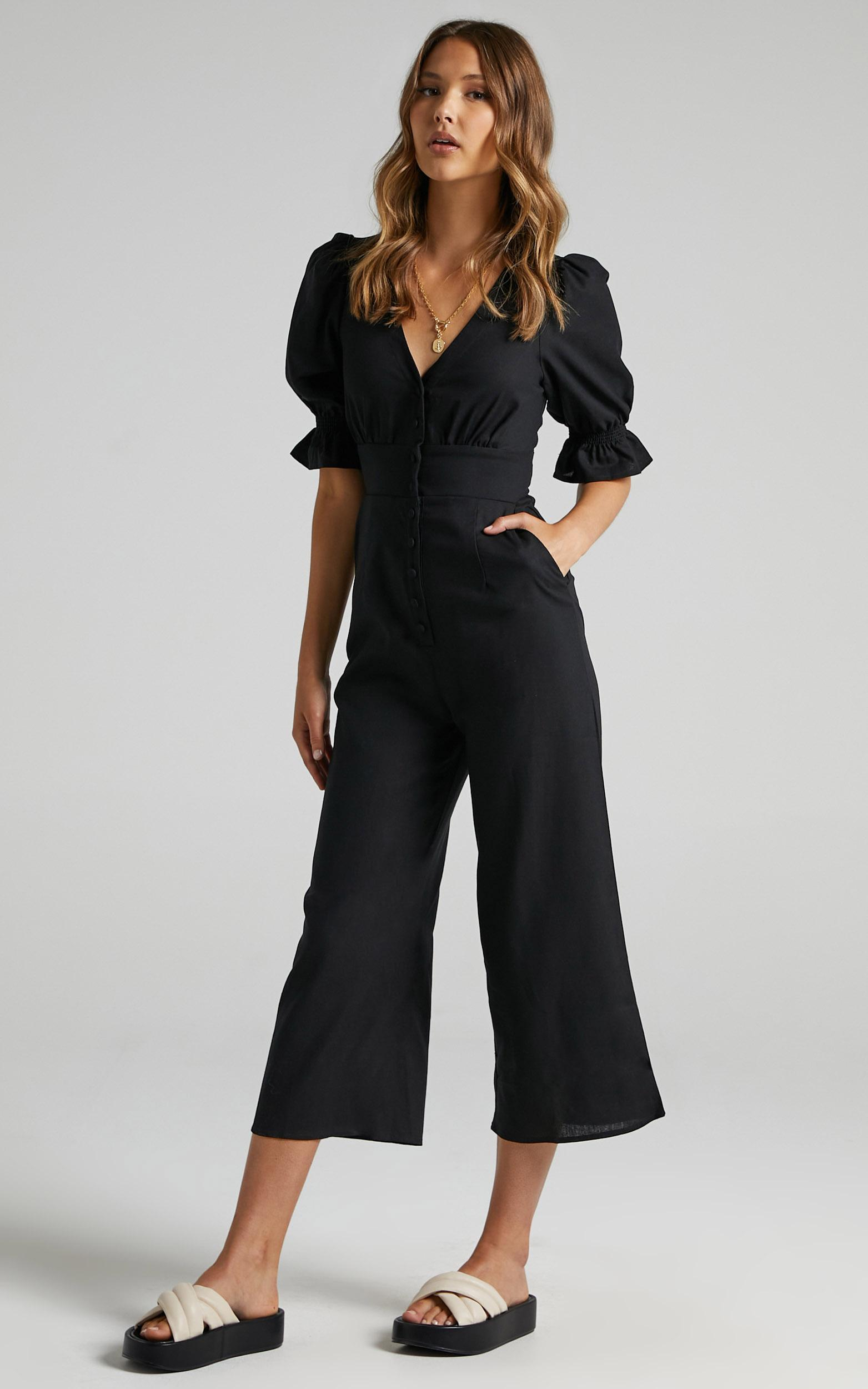 Arna Jumpsuit in Black - 6 (XS), Black, hi-res image number null