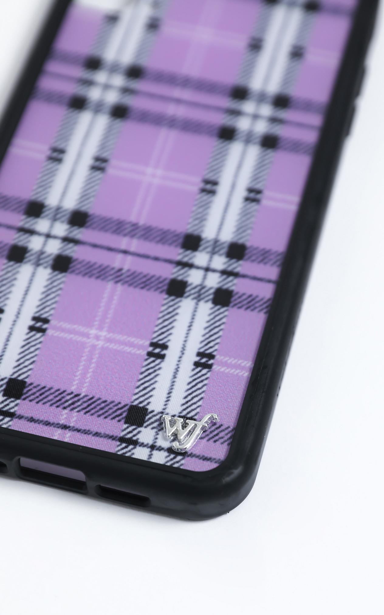 Wildflower - Iphone Case in Lavender Plaid - 8 Plus, Purple, hi-res image number null