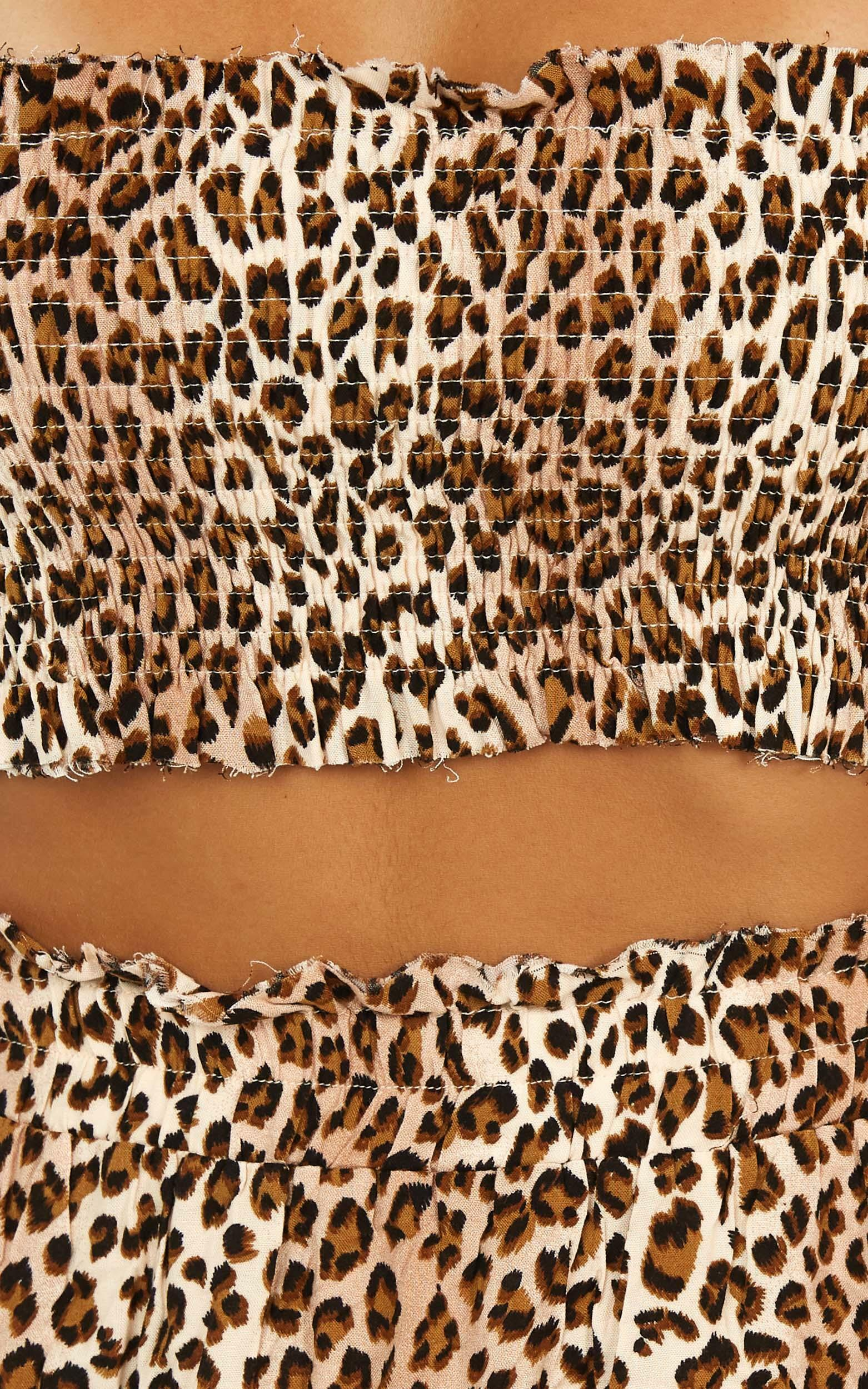 Outside The Line Two Piece Set in leopard print - 20 (XXXXL), Brown, hi-res image number null