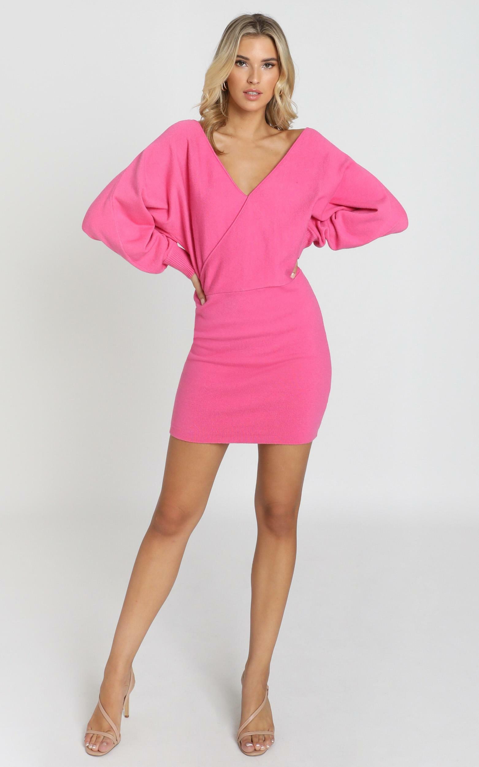 Midnight Confessions Knit Dress in hot pink - 8 (S), Pink, hi-res image number null