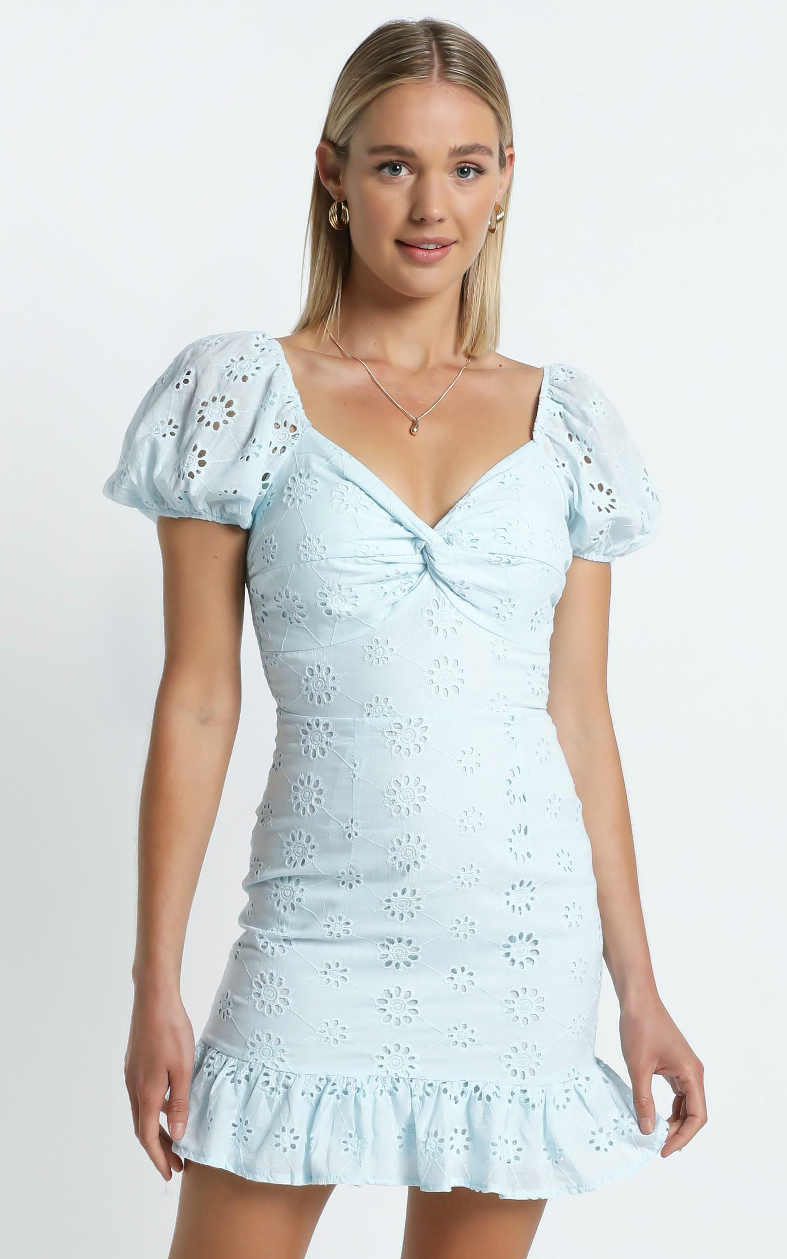 Audley Dress in Blue - 6 (XS), Blue, hi-res image number null