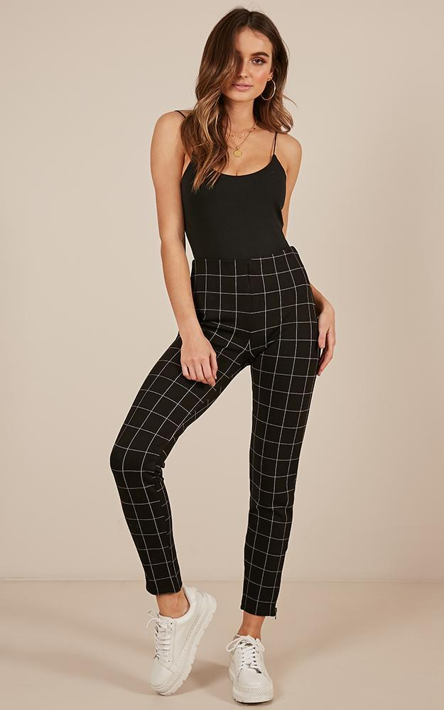 In The Rhythm Pants in black check - 14 (XL), Black, hi-res image number null