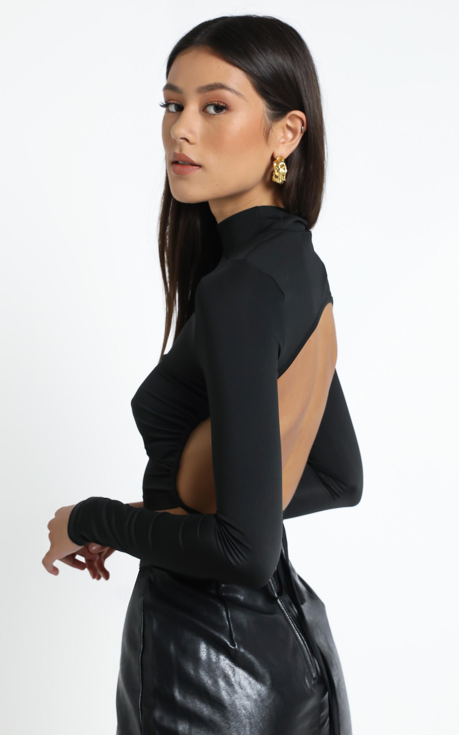 Greenwich Backless Top in Black - 12 (L), Black, hi-res image number null