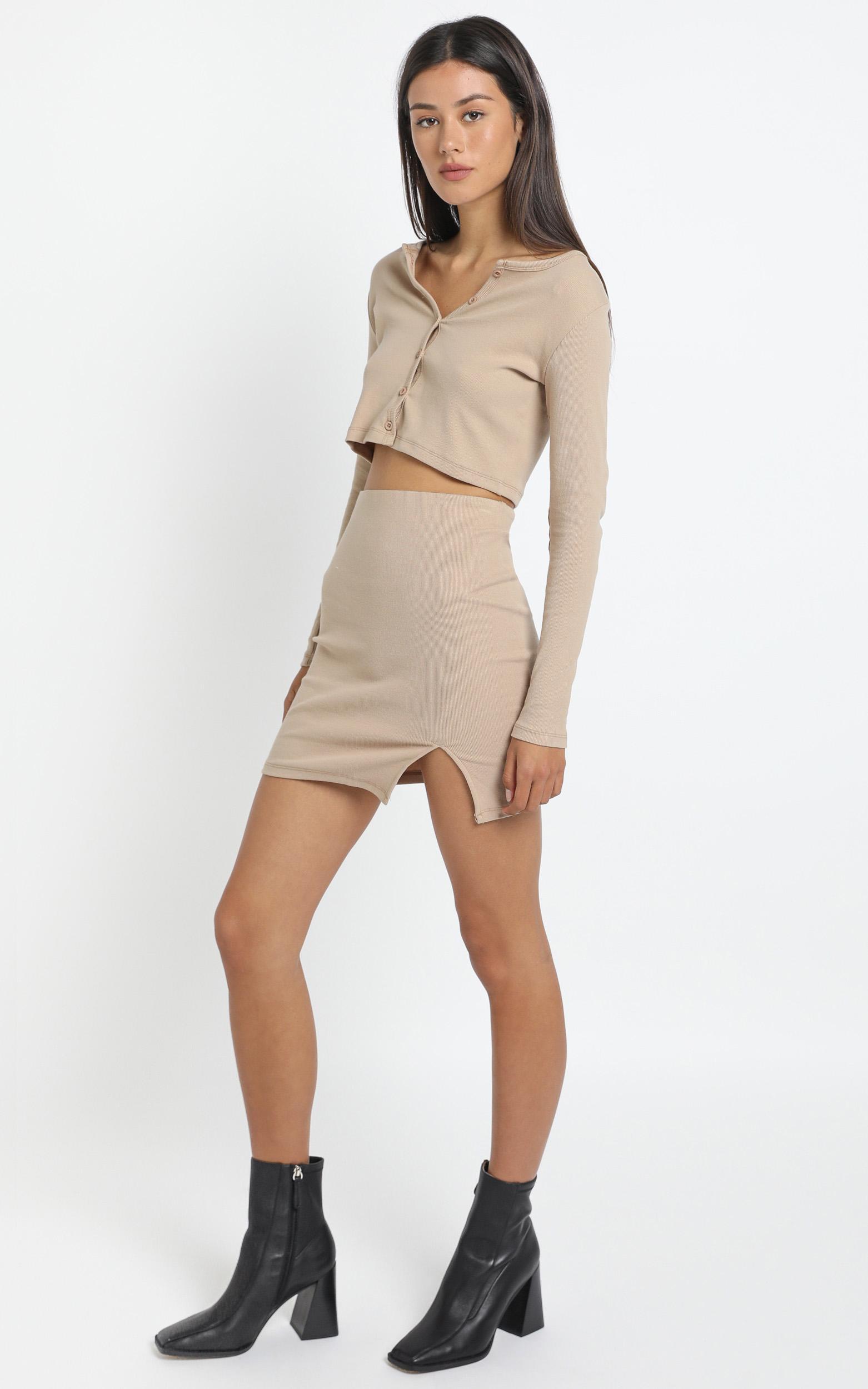 Karah Skirt in Tan - 12 (L), Tan, hi-res image number null