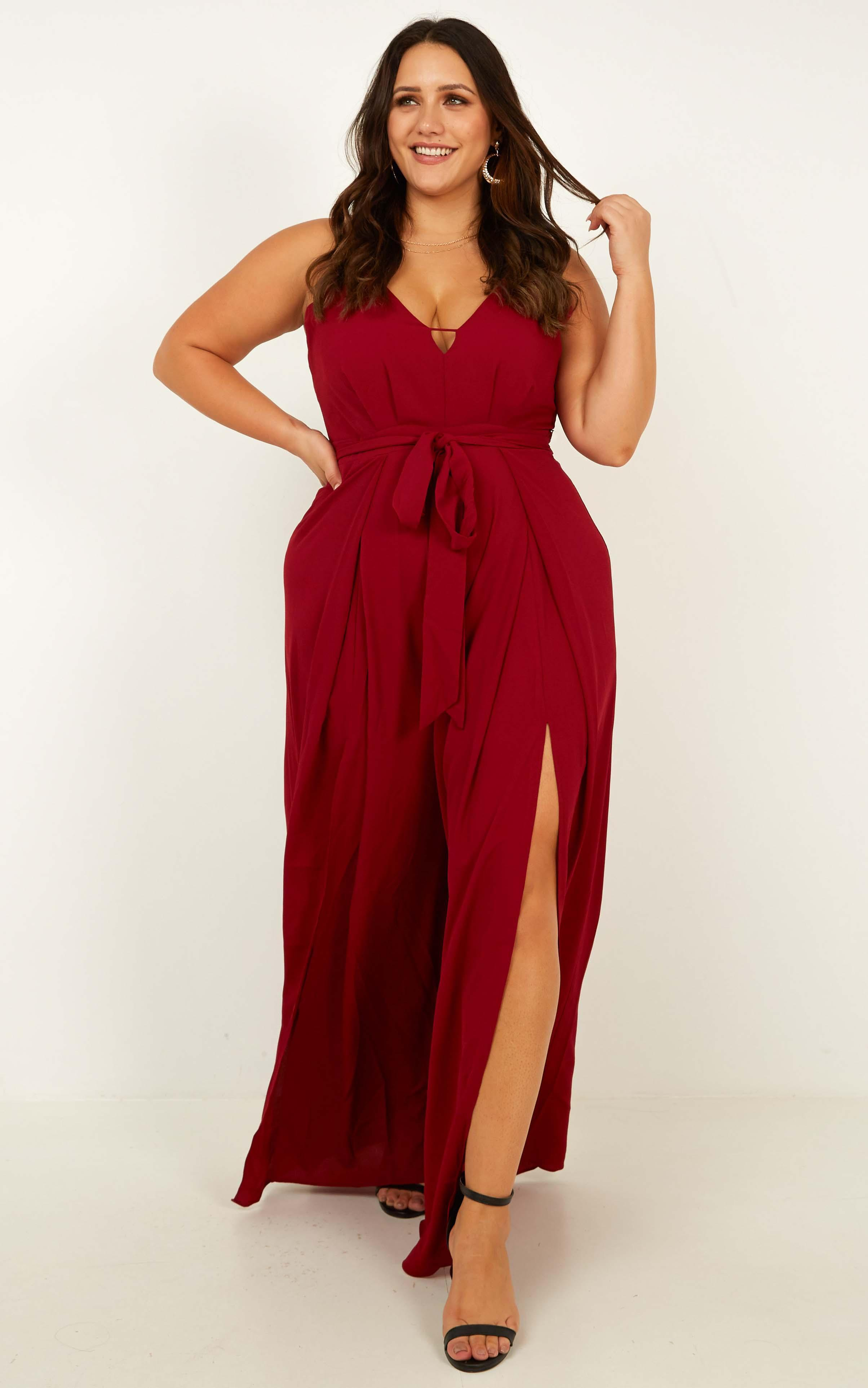 Something Just Like This Jumpsuit In wine - 20 (XXXXL), Wine, hi-res image number null