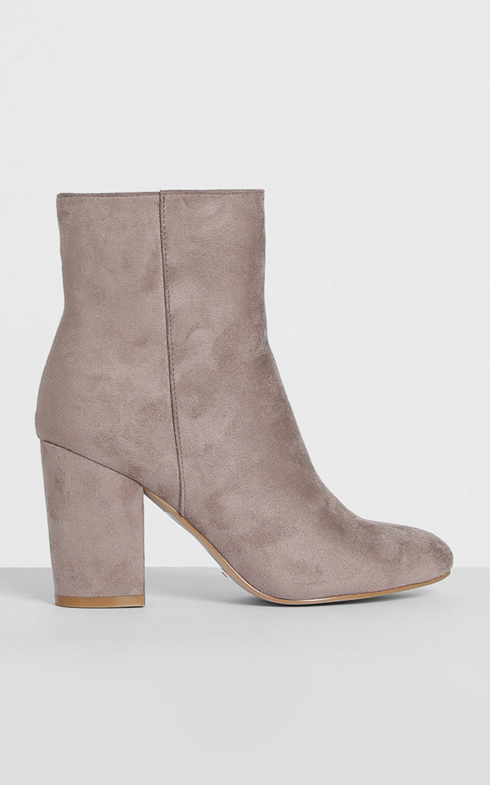 Billini - Darcy Boots in dark taupe micro - 5, Taupe, hi-res image number null