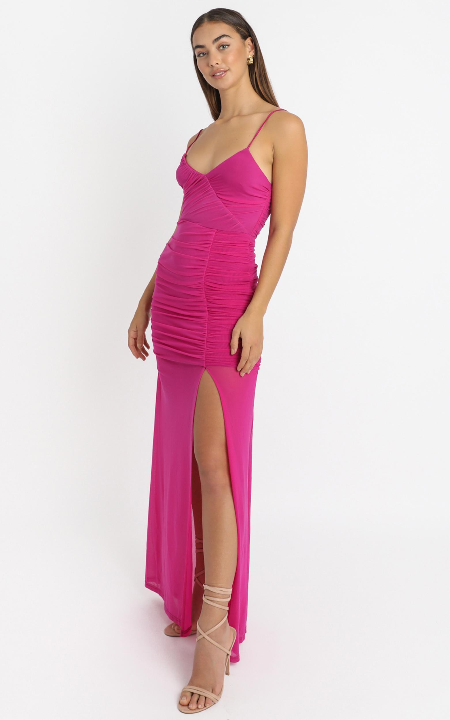 Gigi Dress in hot pink mesh - 4 (XXS), Pink, hi-res image number null