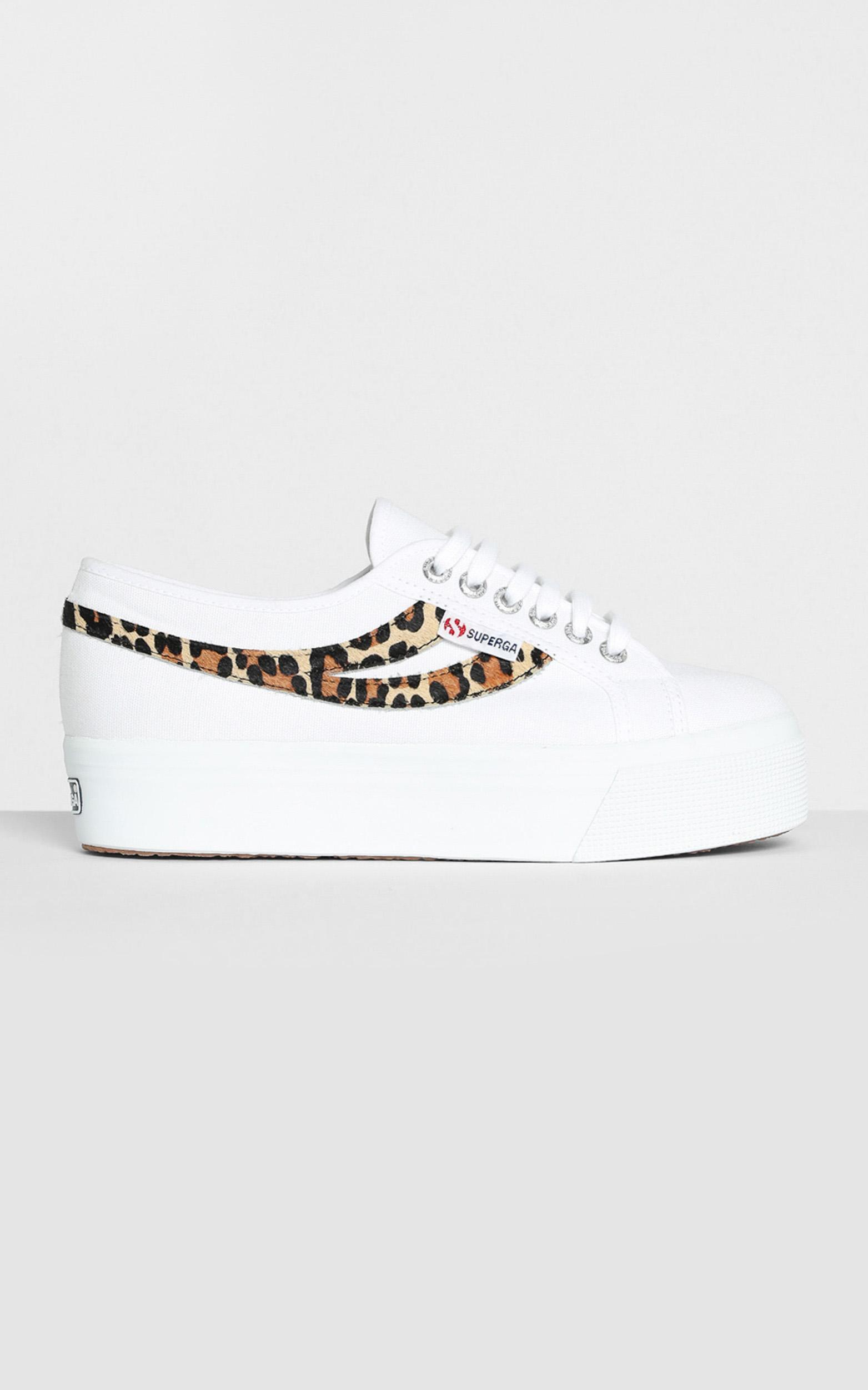 Superga - 2892 COTW Ponyhair Sneakers in White Cheetah - 5, White, hi-res image number null