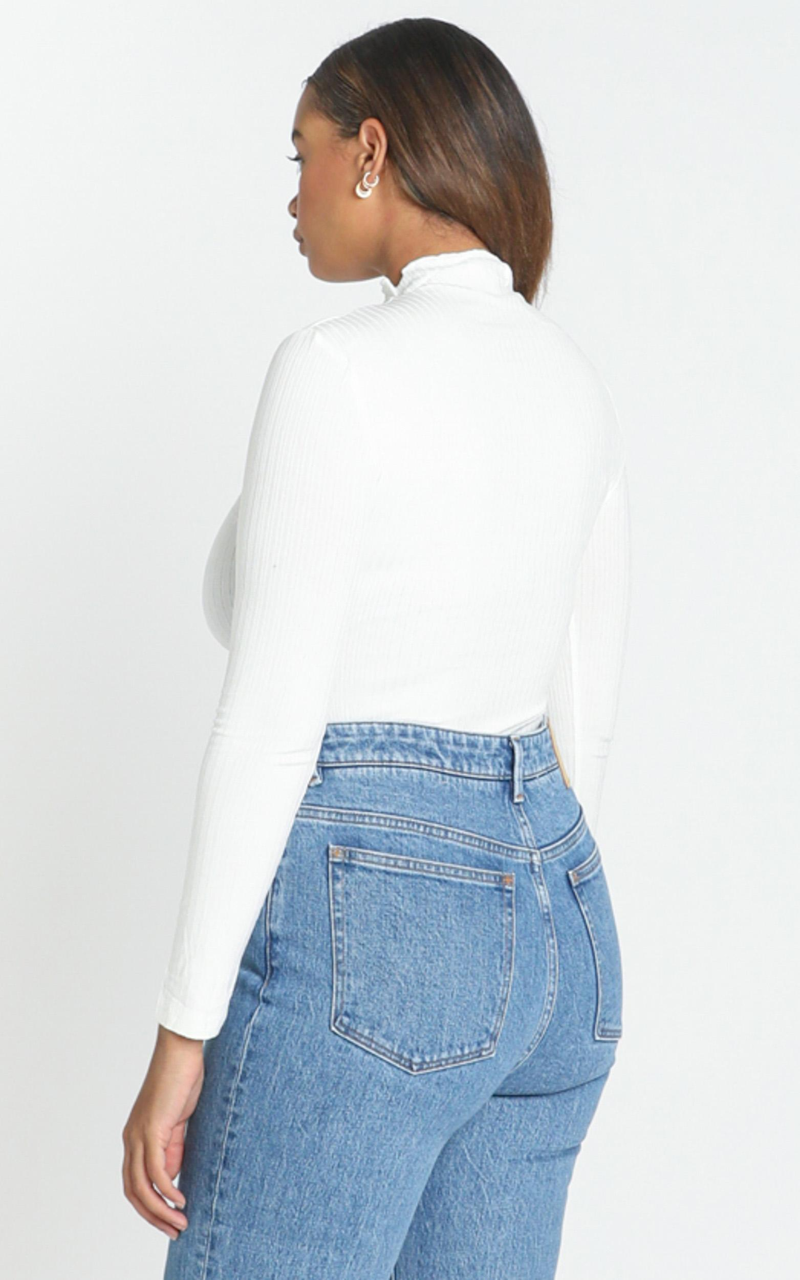Danika High Neck Top in White - 12 (L), White, hi-res image number null