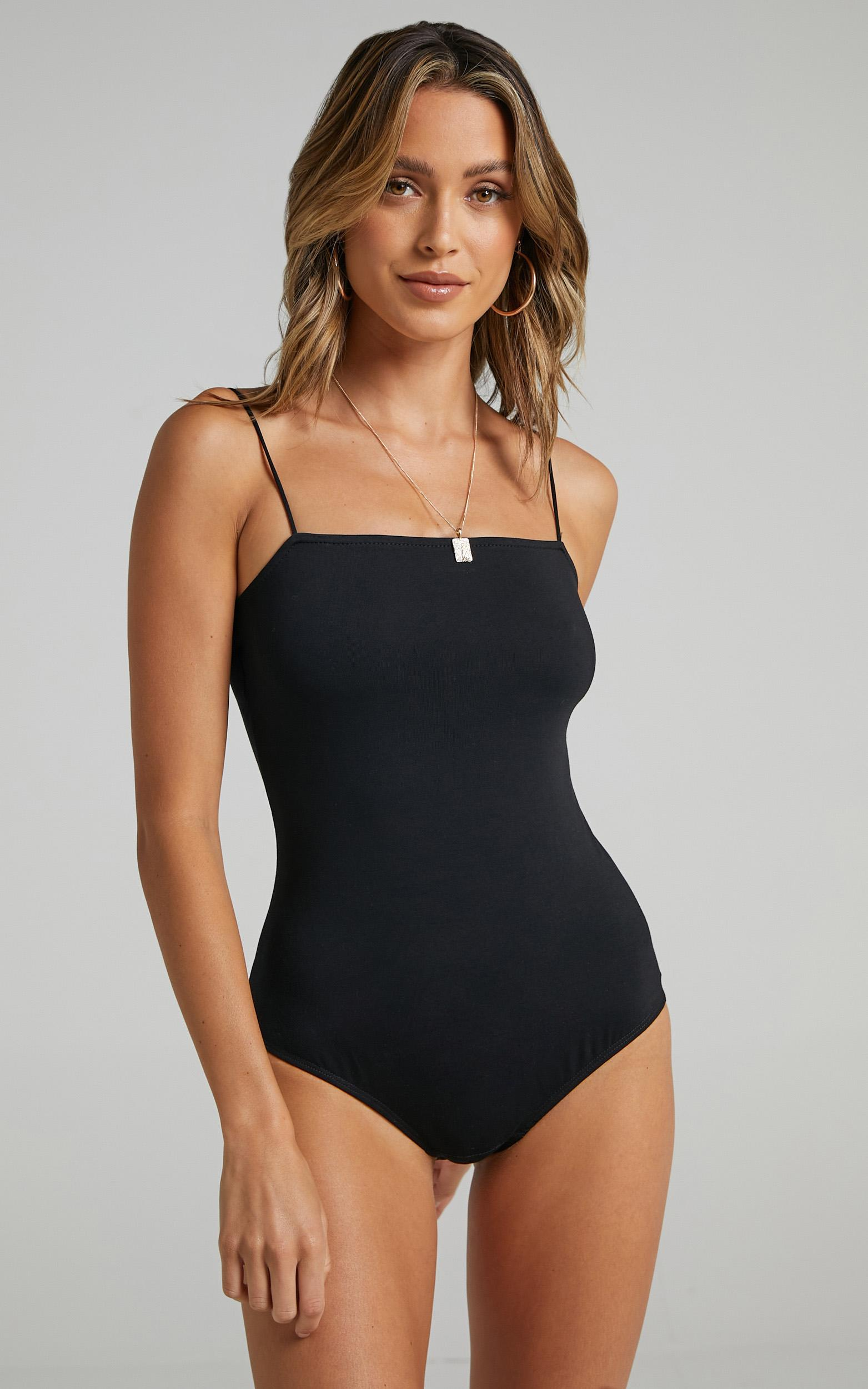 Stitched You Up bodysuit in black - 20 (XXXXL), Black, hi-res image number null