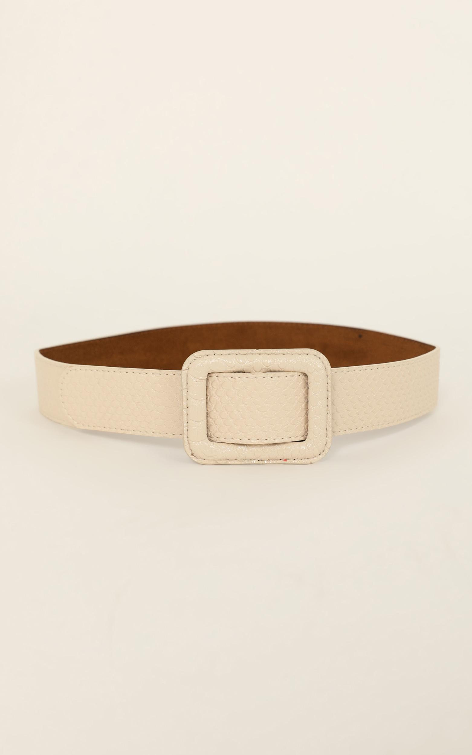 Call On Me Belt In Nude Croc, , hi-res image number null