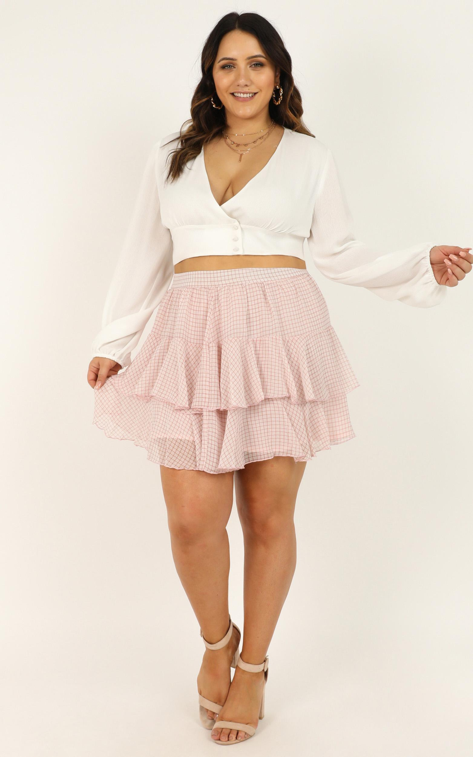 Latest Find Skirt In blush check - 14 (XL), Blush, hi-res image number null