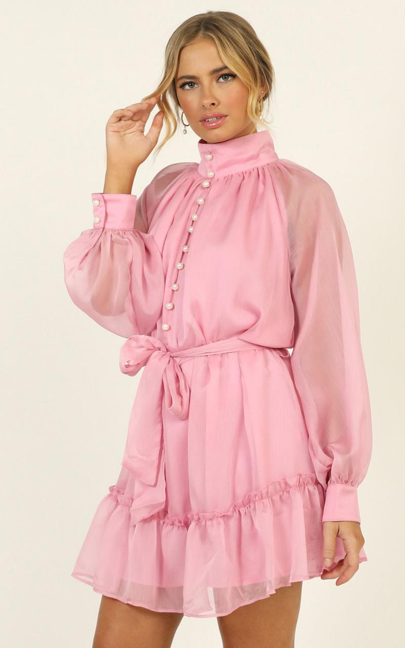 Whitney Dress in pink - 14 (XL), Pink, hi-res image number null