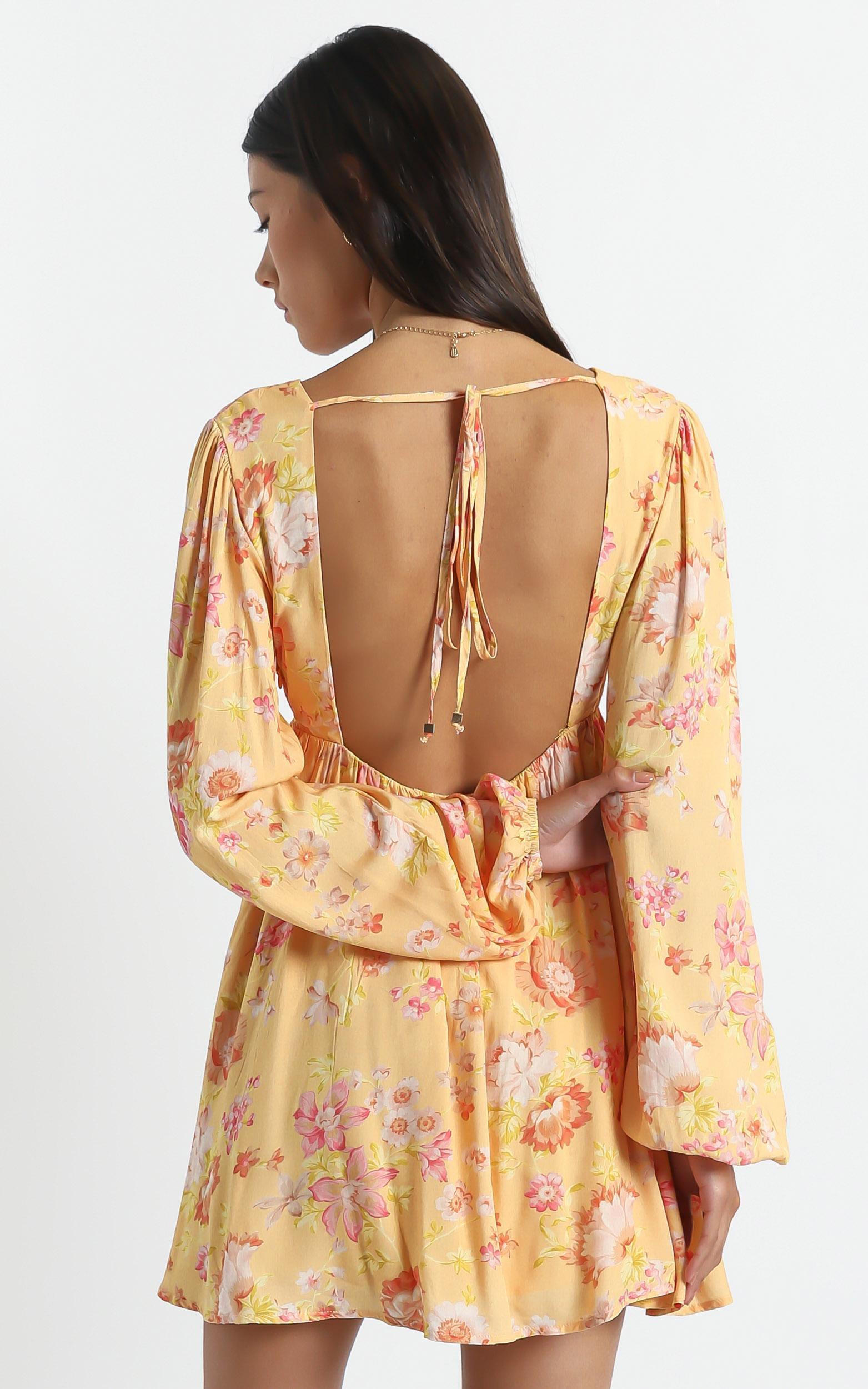 Kari Dress in Tuscan Spring - 6 (XS), Orange, hi-res image number null