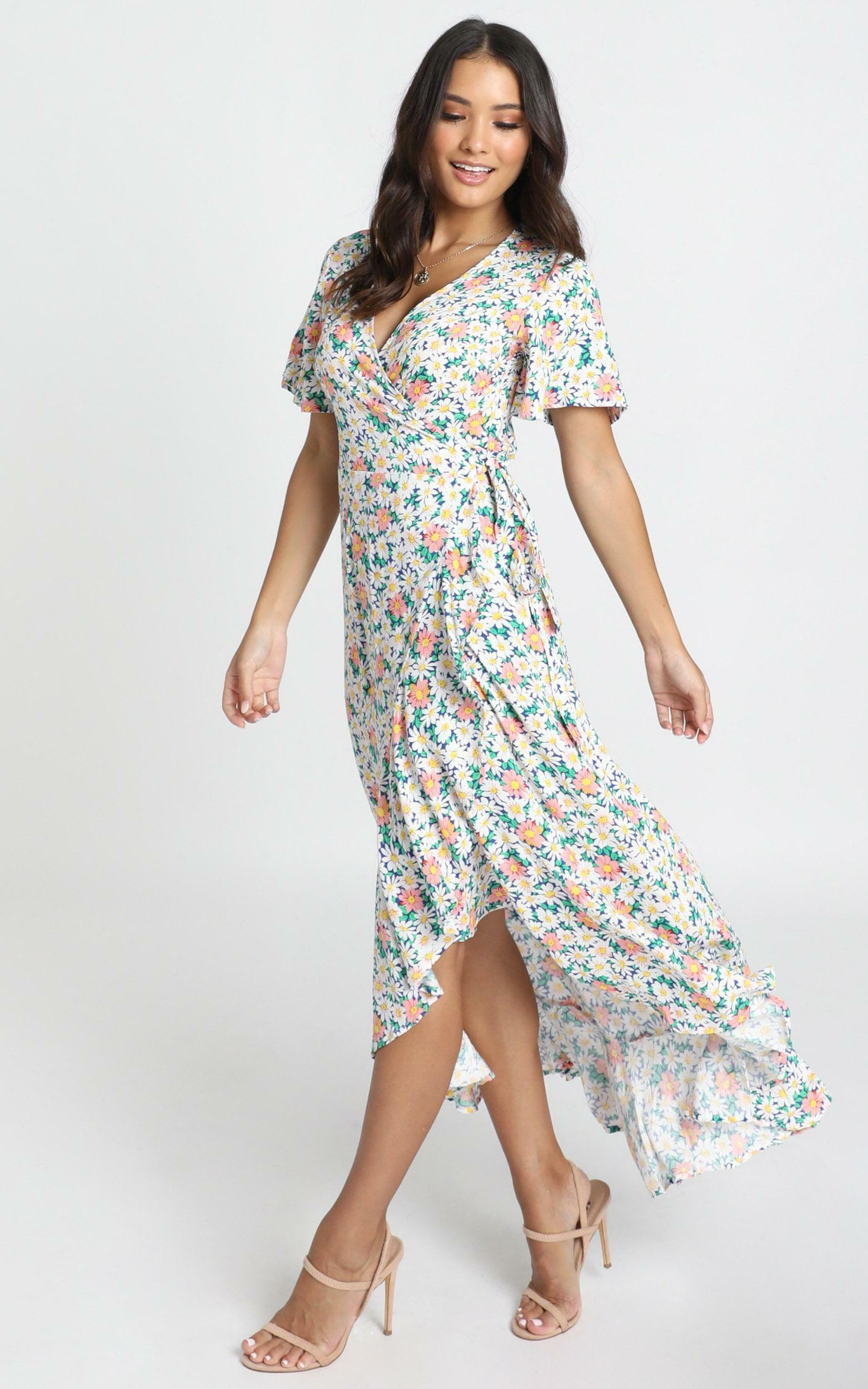 Lavish Life Dress in multi floral - 6 (XS), Green, hi-res image number null