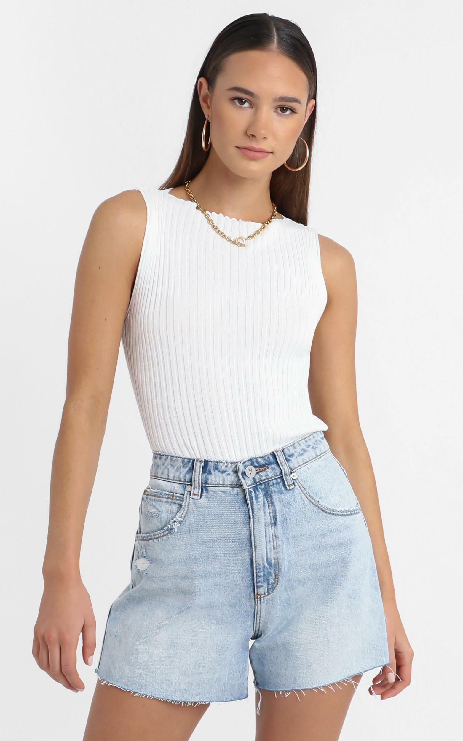 Laylah Knit top in White - 14 (XL), White, hi-res image number null
