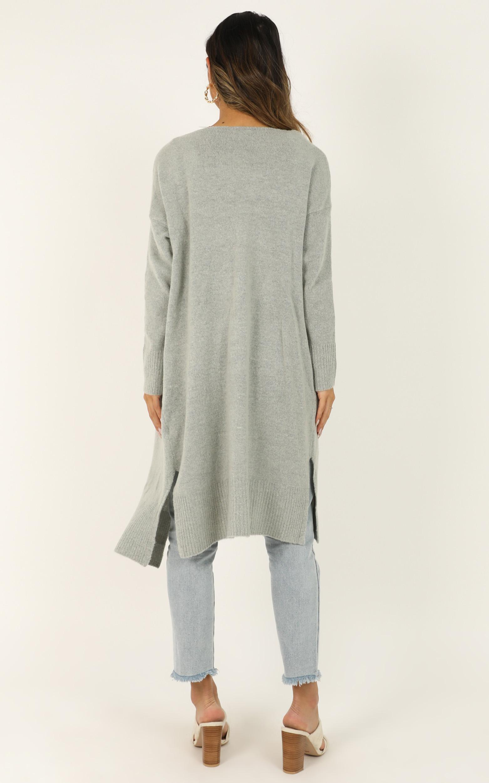 Around The Bend Cardigan in grey - 14 (XL), Grey, hi-res image number null