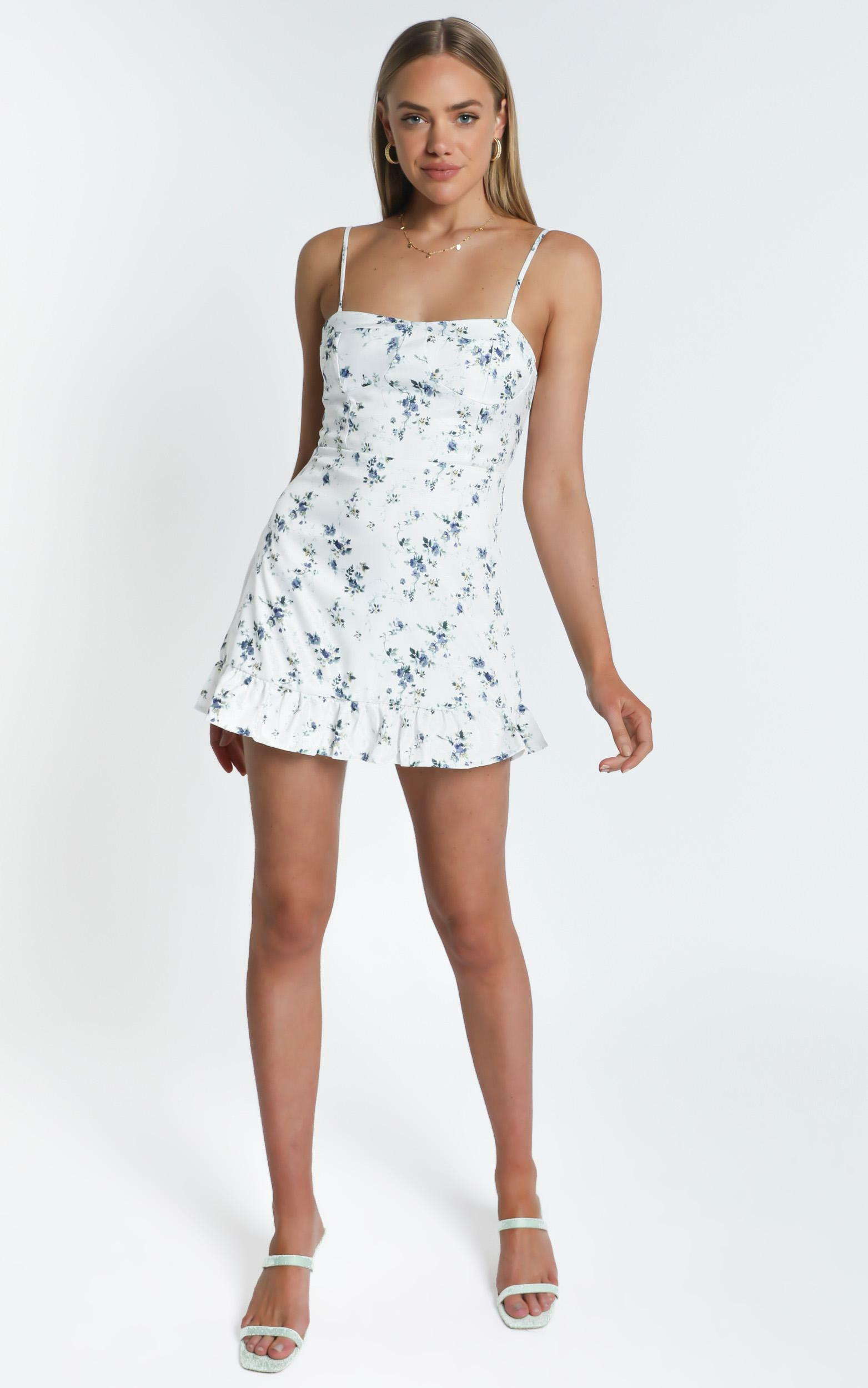 Pearle Dress in White Floral - 8 (S), White, hi-res image number null