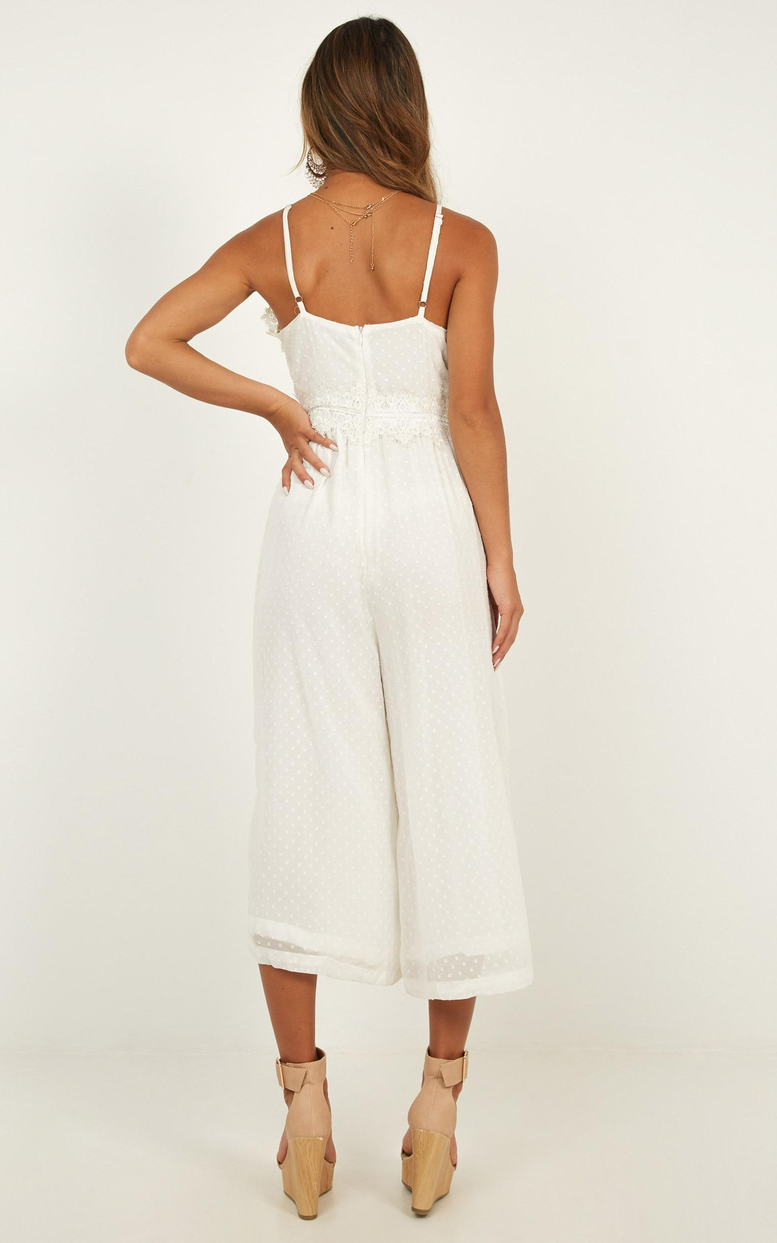 We Could Be Friends jumpsuit in white - 20 (XXXXL), White, hi-res image number null