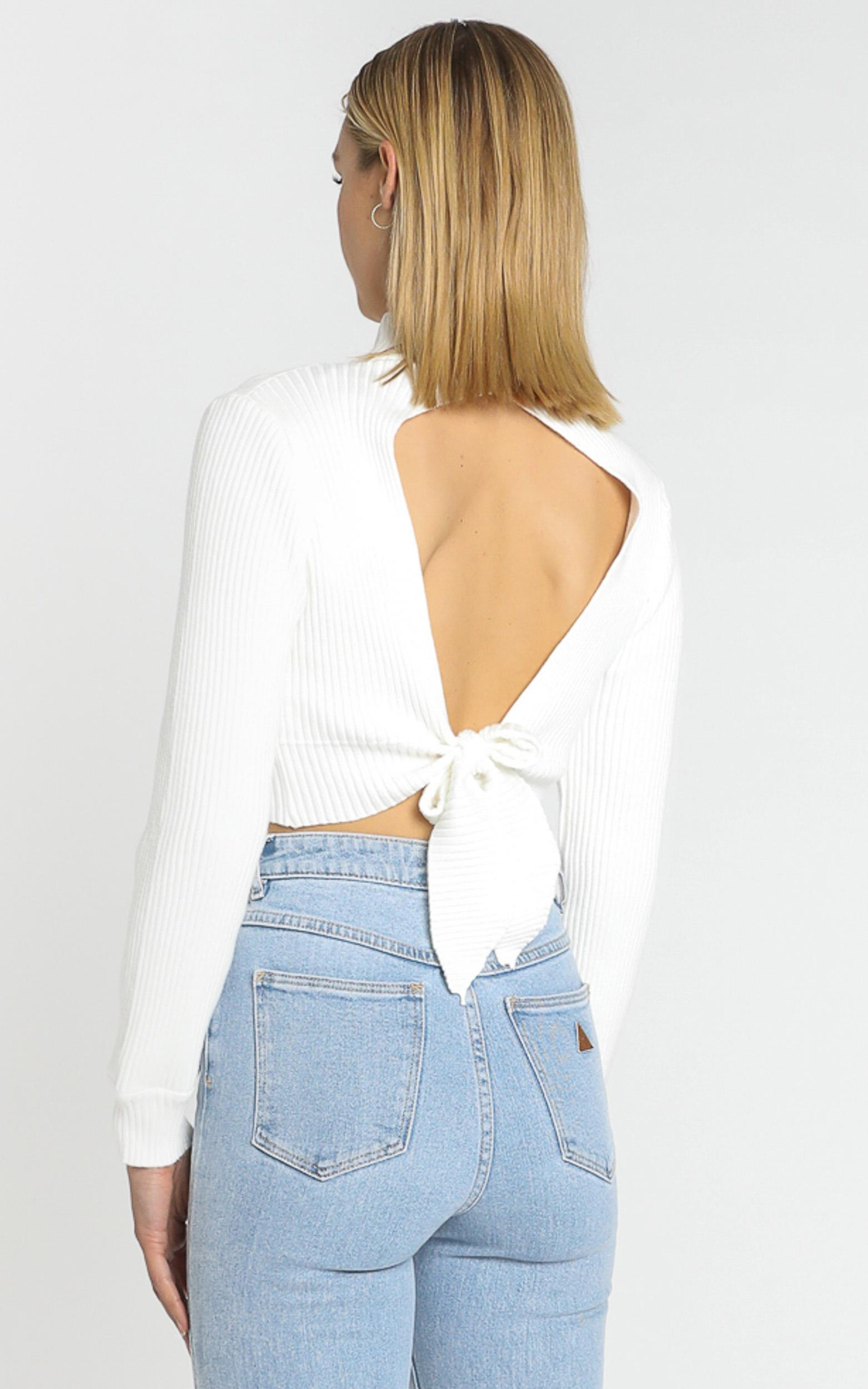 Alika Knit Top in White - 8 (S), WHT1, hi-res image number null