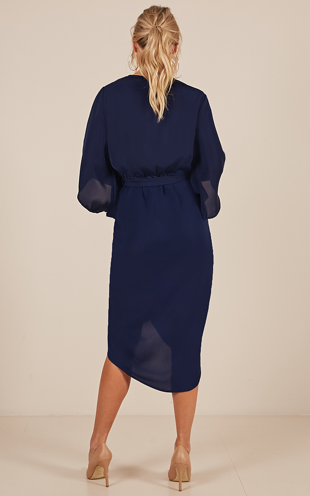 Standing Tall dress in navy - 14 (XL), Navy, hi-res image number null