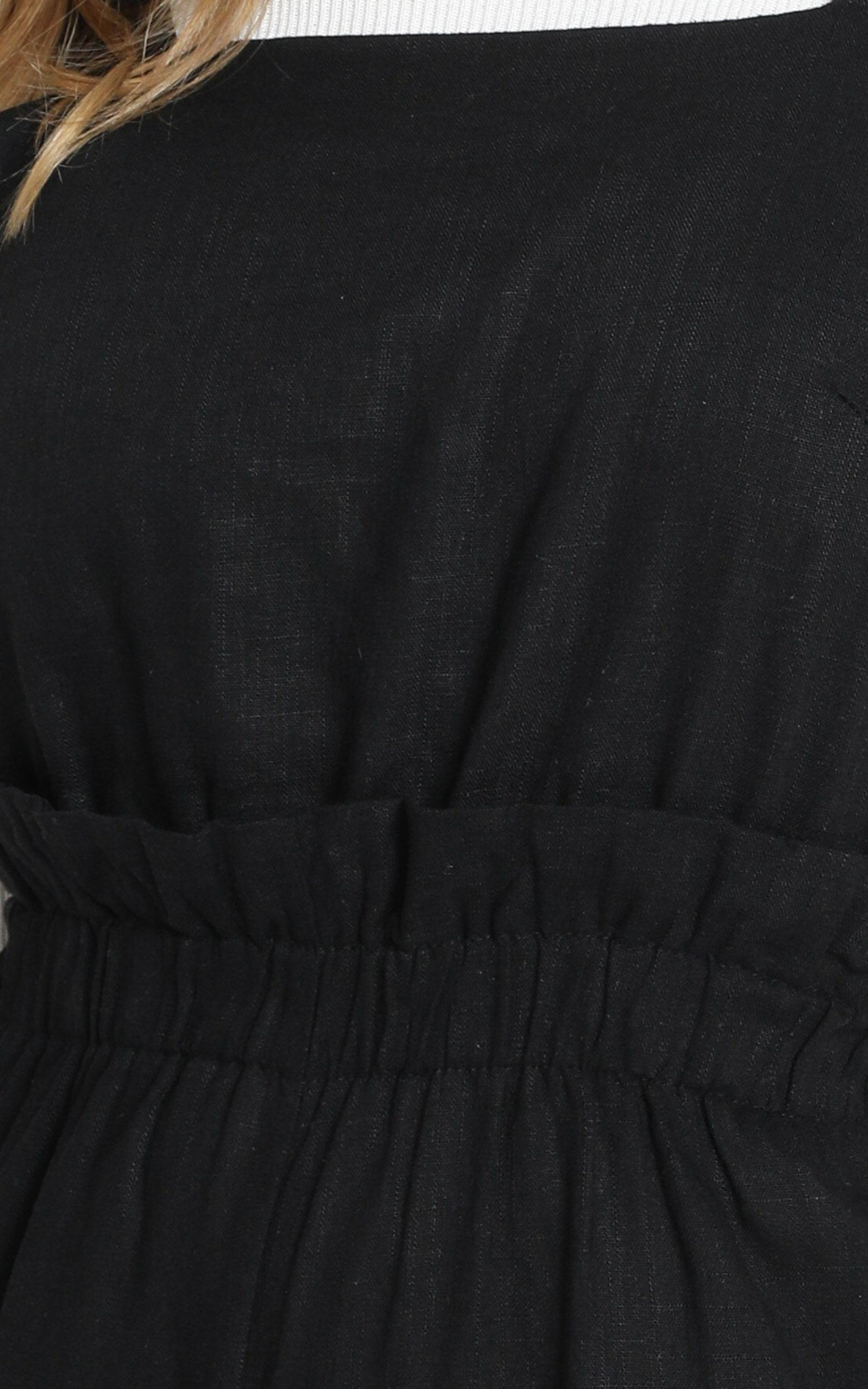 Keeping the momentum Jumpsuit in black linen look - 14 (XL), Black, hi-res image number null