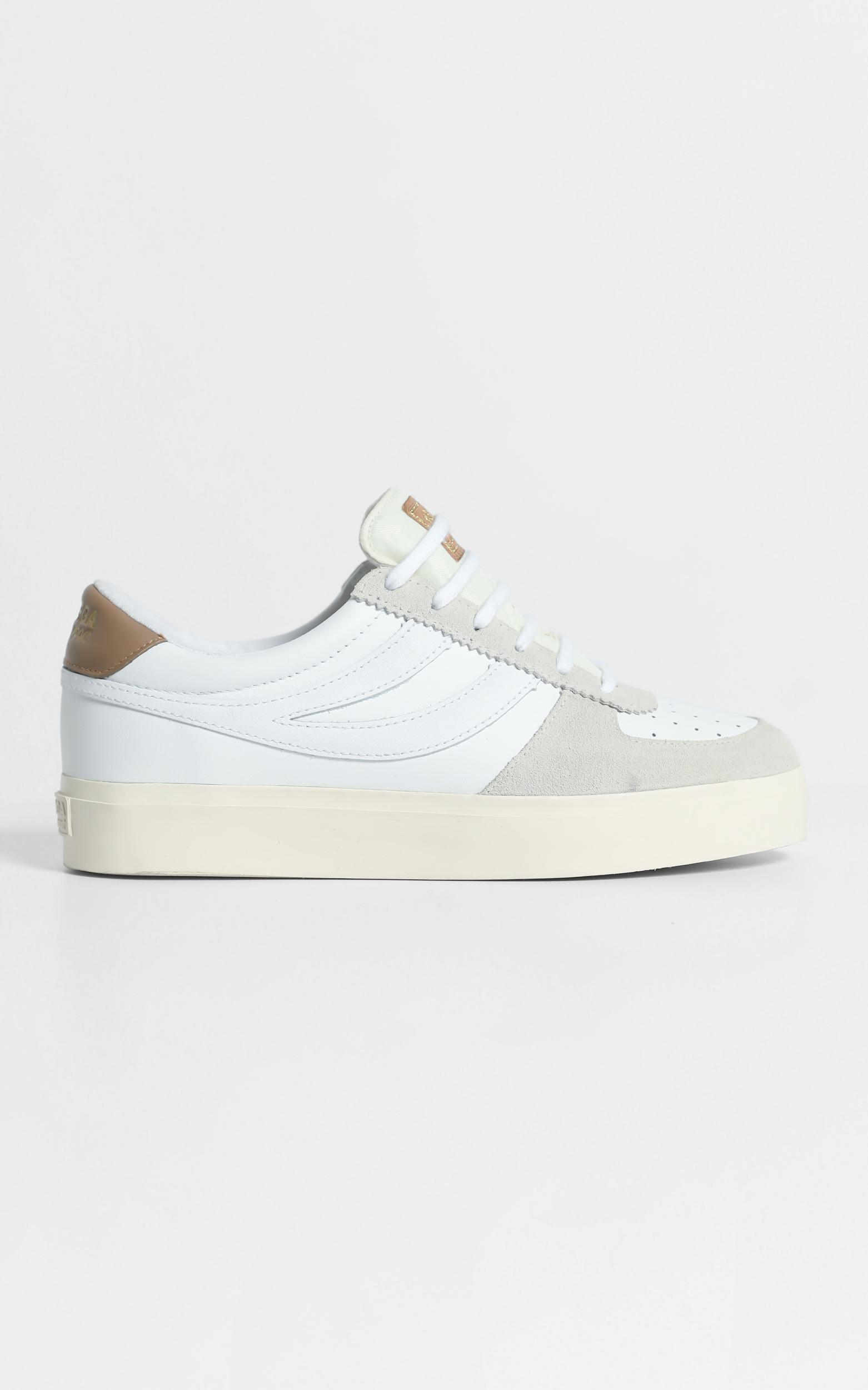 Superga - Seattle 3 Comflea Sneaker in white - brown dusty - 5, White, hi-res image number null