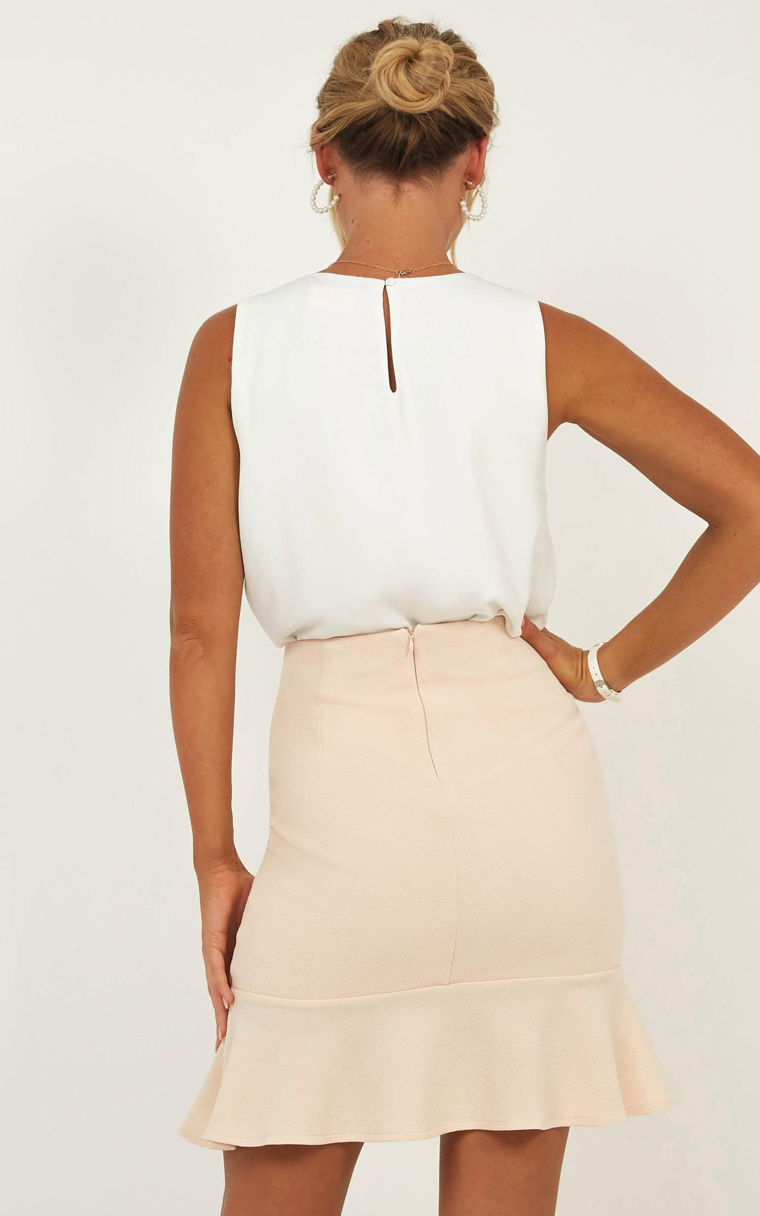 Smooth Talker Skirt in nude - 20 (XXXXL), Beige, hi-res image number null