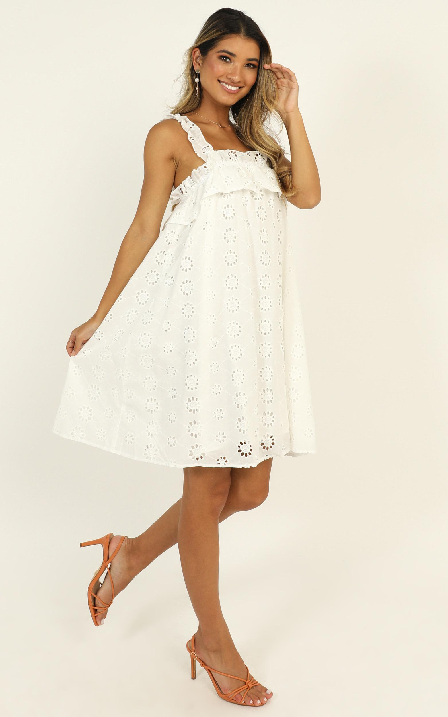 Next Summer dress in white - 14 (XL), White, hi-res image number null
