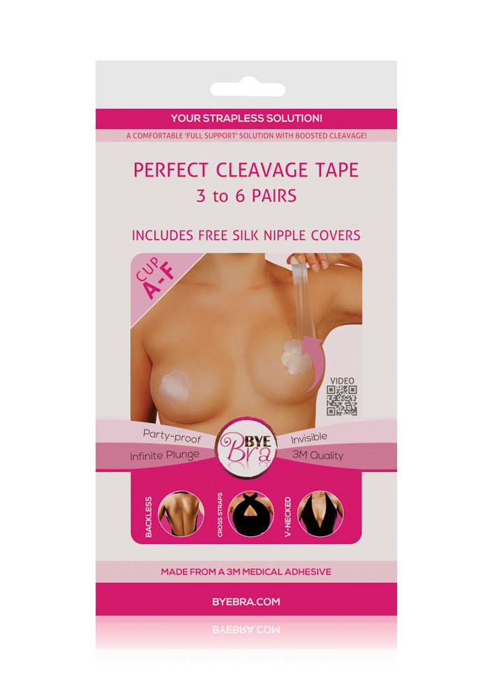 Bye Bra - Perfect Cleavage Tape in clear, , hi-res image number null