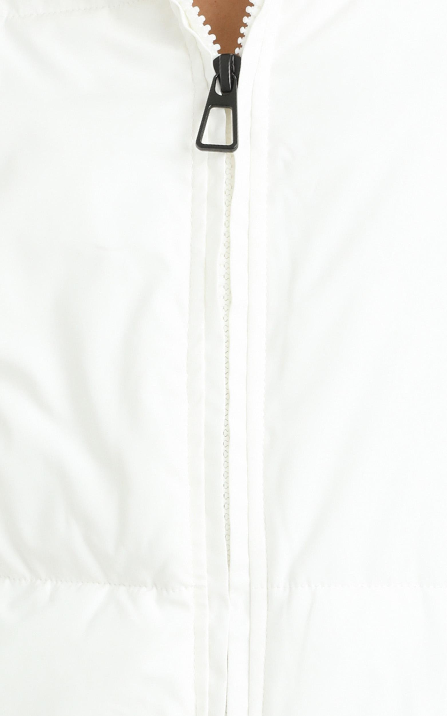 Windsor Puffer Jacket in White - 12 (L), White, hi-res image number null