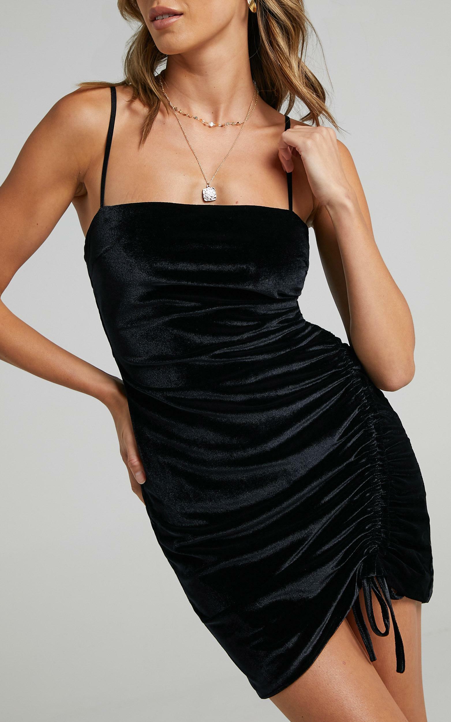 Beyond It Dress in Black Velvet - 04, BLK5, hi-res image number null