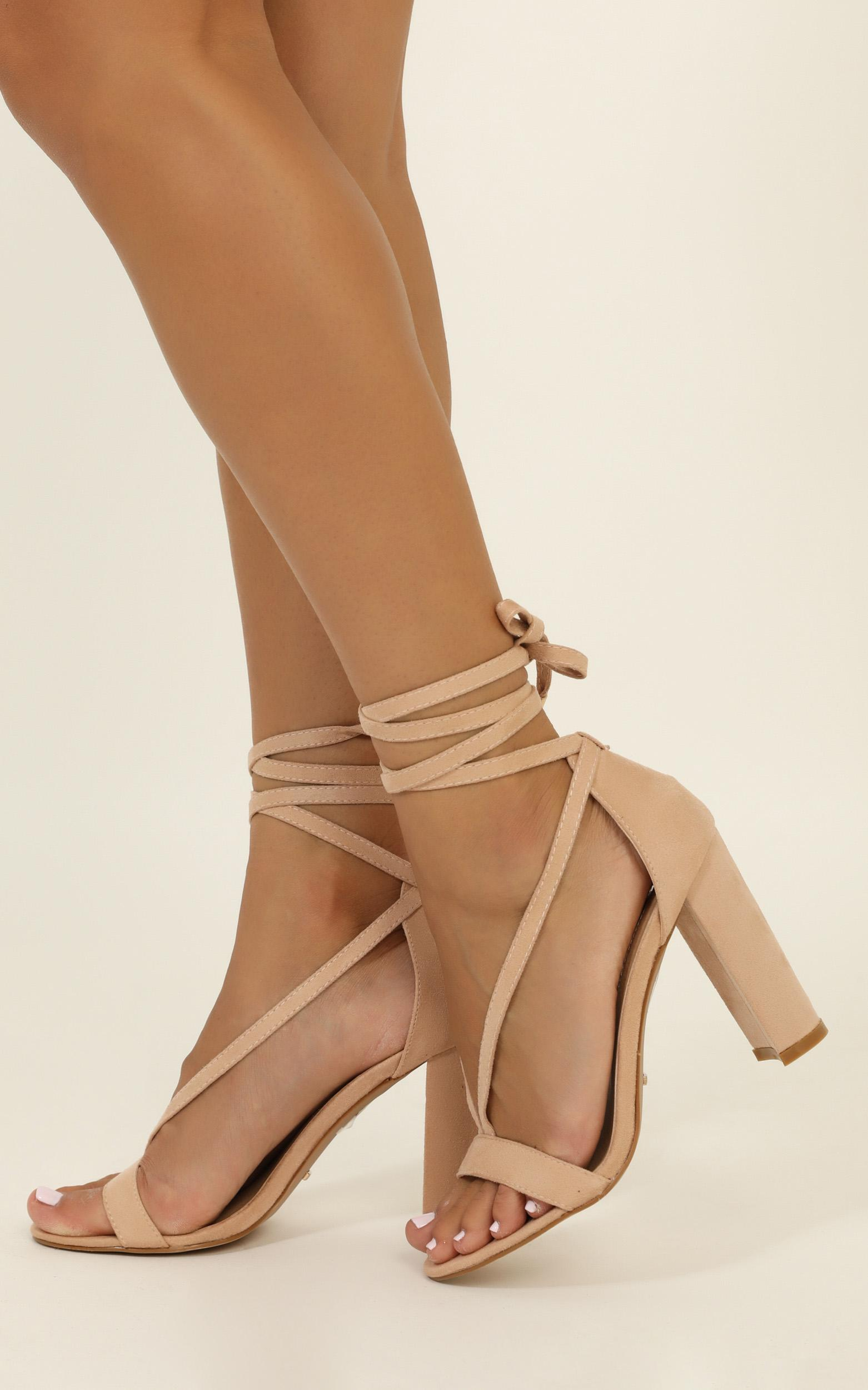 Billini - Juno heels in blush micro - 10, Blush, hi-res image number null