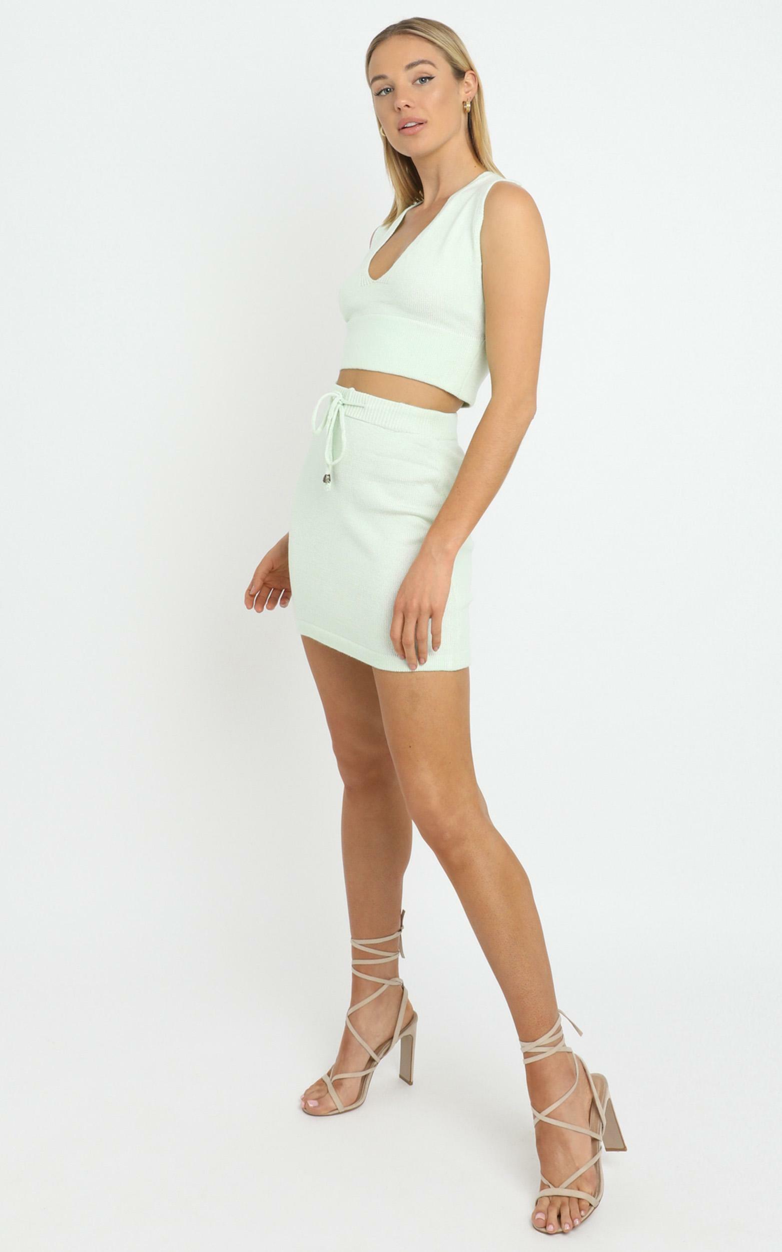 Alden Knit Skirt in Sage - L, Sage, hi-res image number null