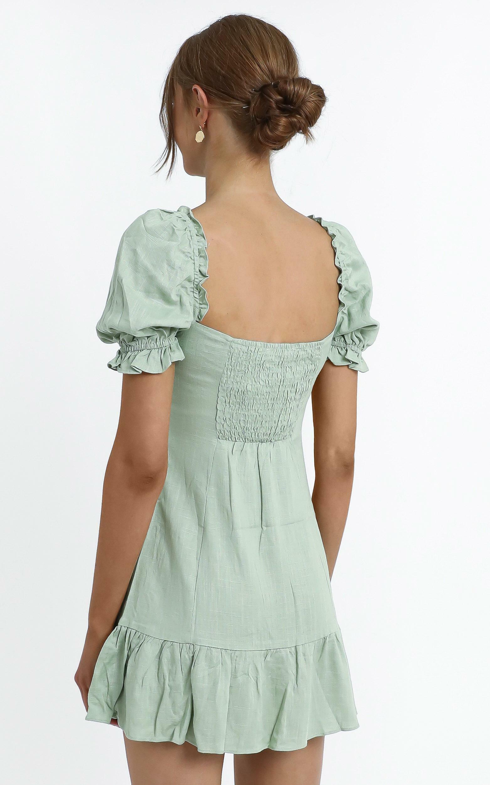 Effie Dress in Sage - 14 (XL), Green, hi-res image number null
