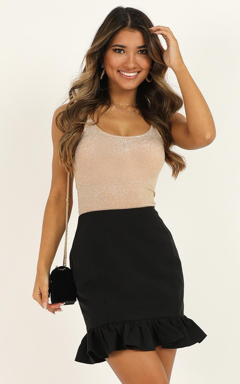 Small Town Way Skirt In black - 20 (XXXXL), Black, hi-res image number null
