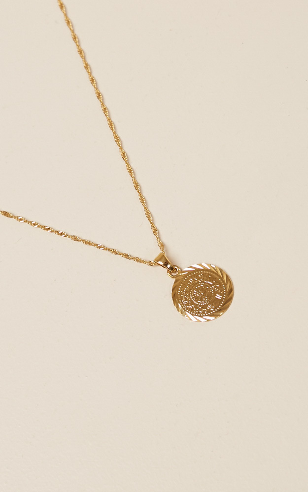 Like I Do coin necklace in gold, , hi-res image number null