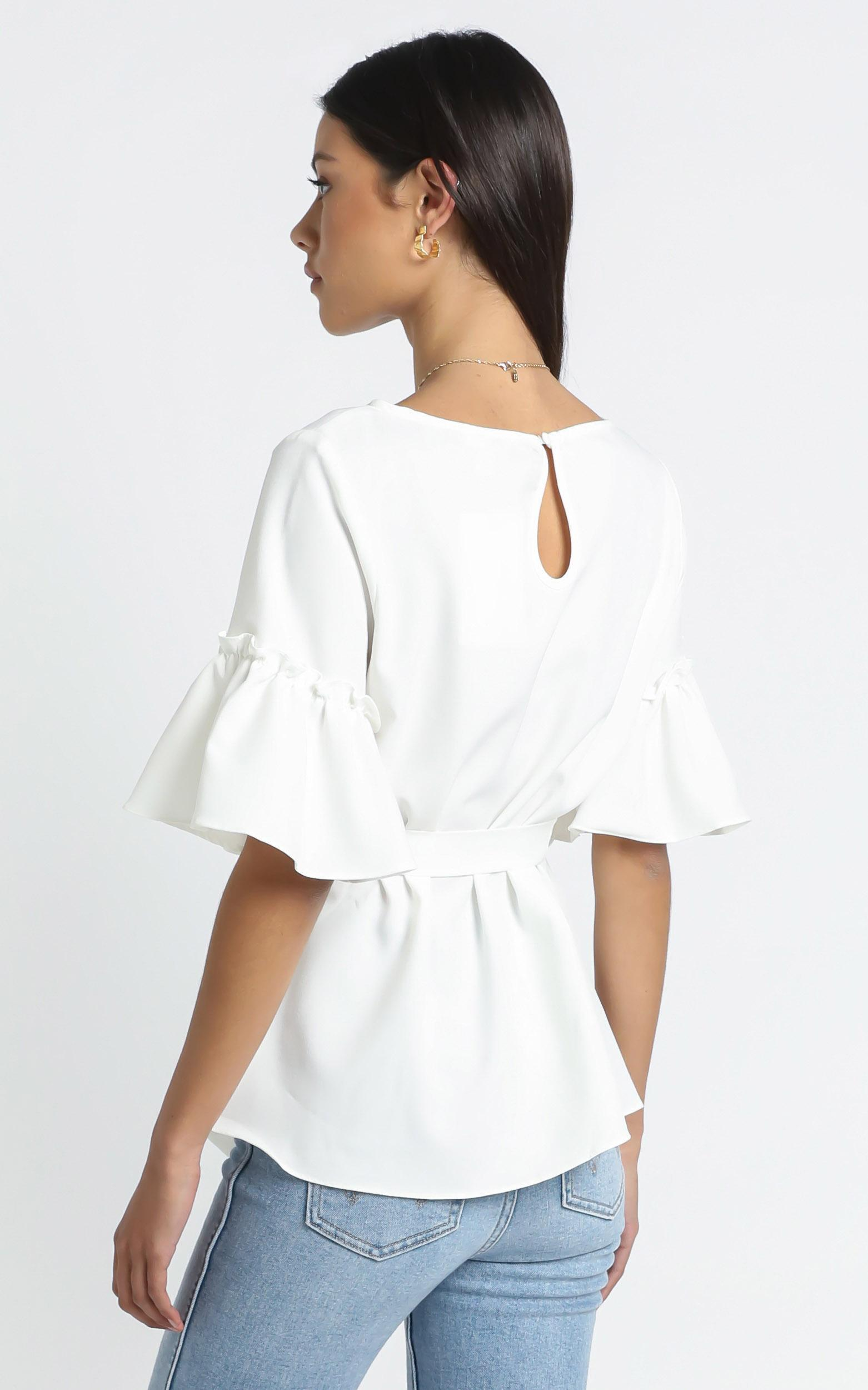 Kellie Top in white - 16 (XXL), White, hi-res image number null