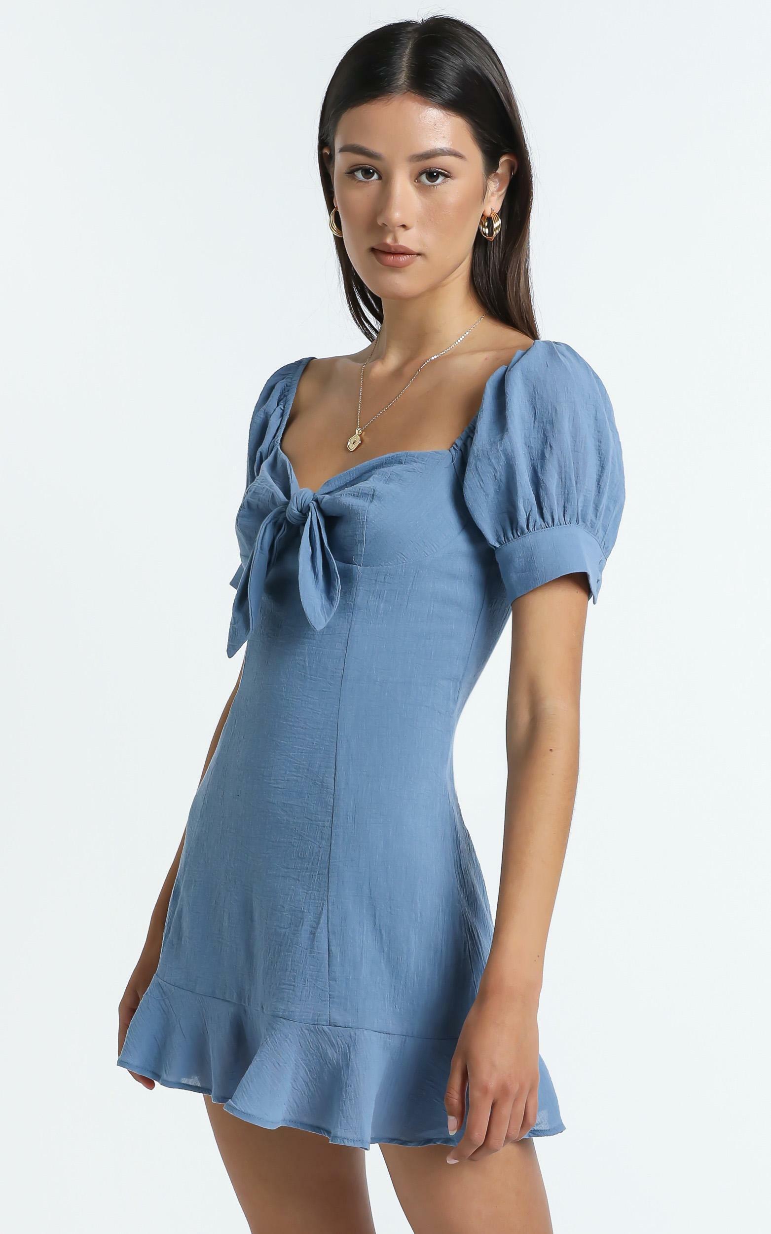Rosa Dress in Blue - 14 (XL), Blue, hi-res image number null