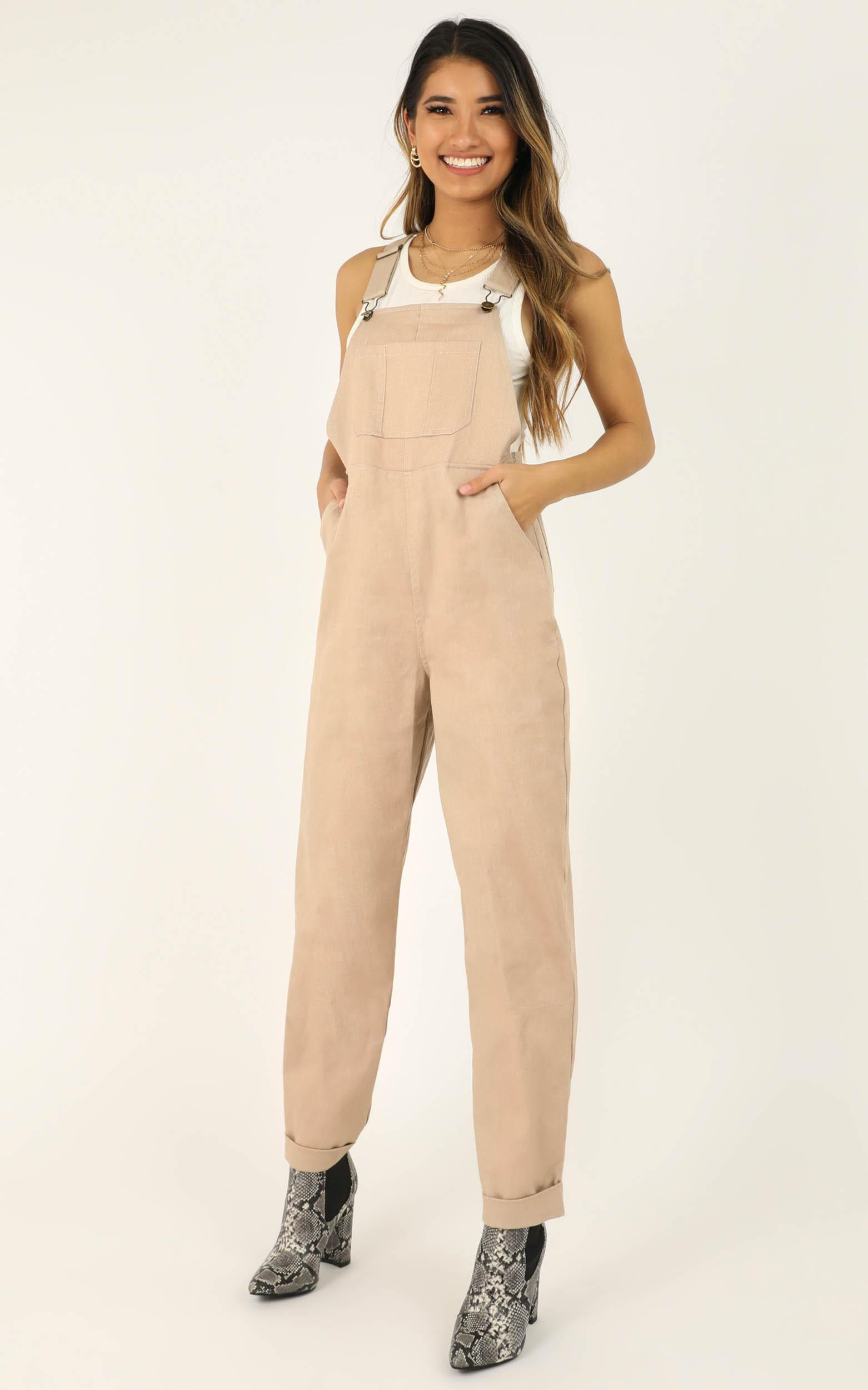 Gather Me in Overall in beige - 20 (XXXXL), Beige, hi-res image number null