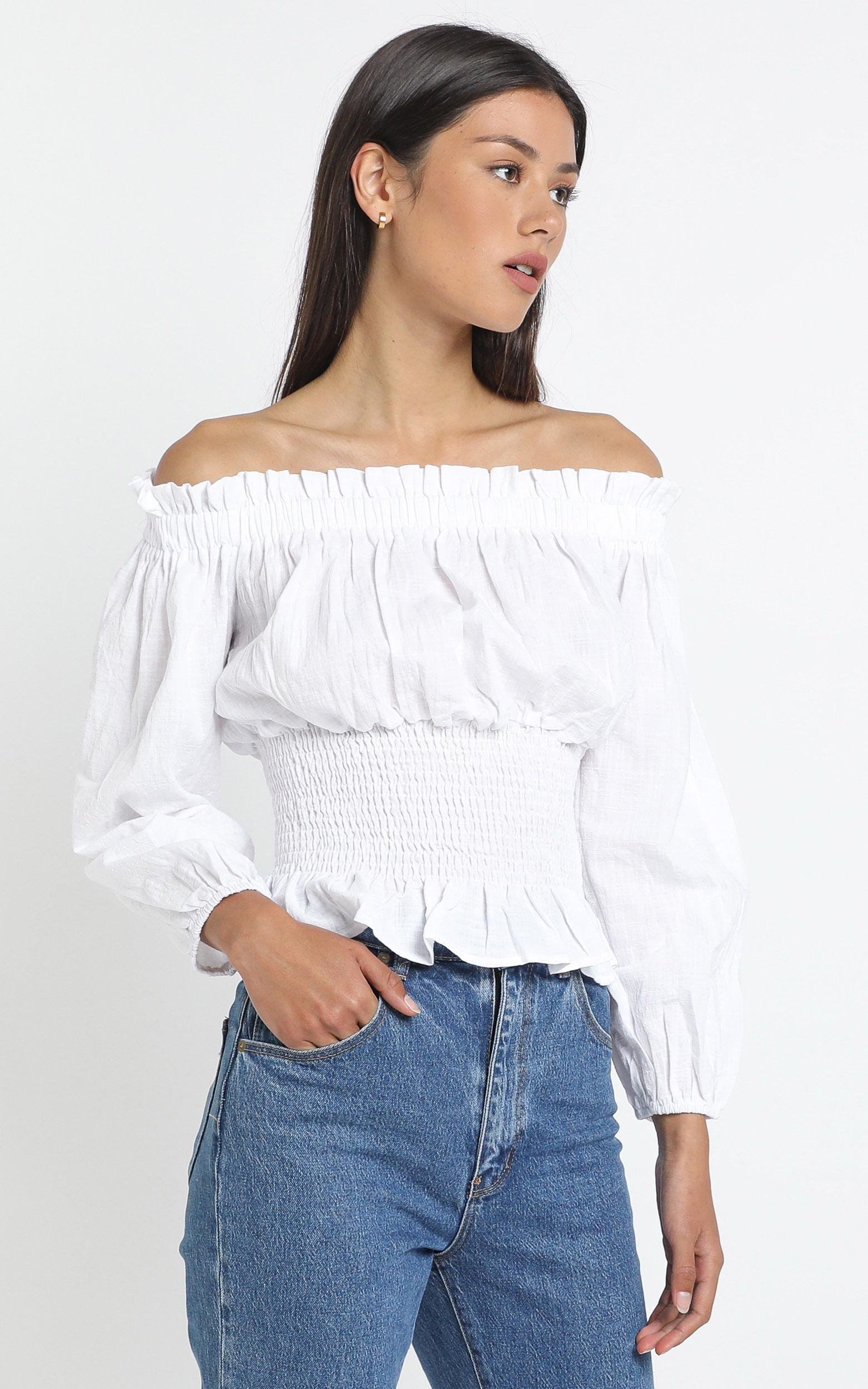 Marnie Top in White - XL, White, hi-res image number null