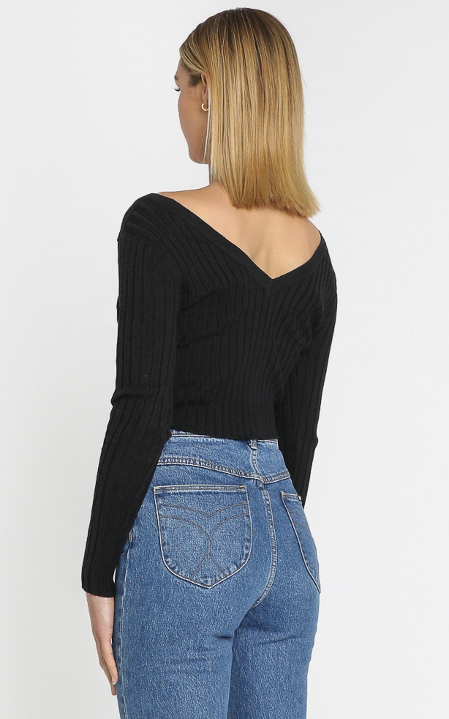 Agnese Knit Top in Black - 8 (S), Black, hi-res image number null