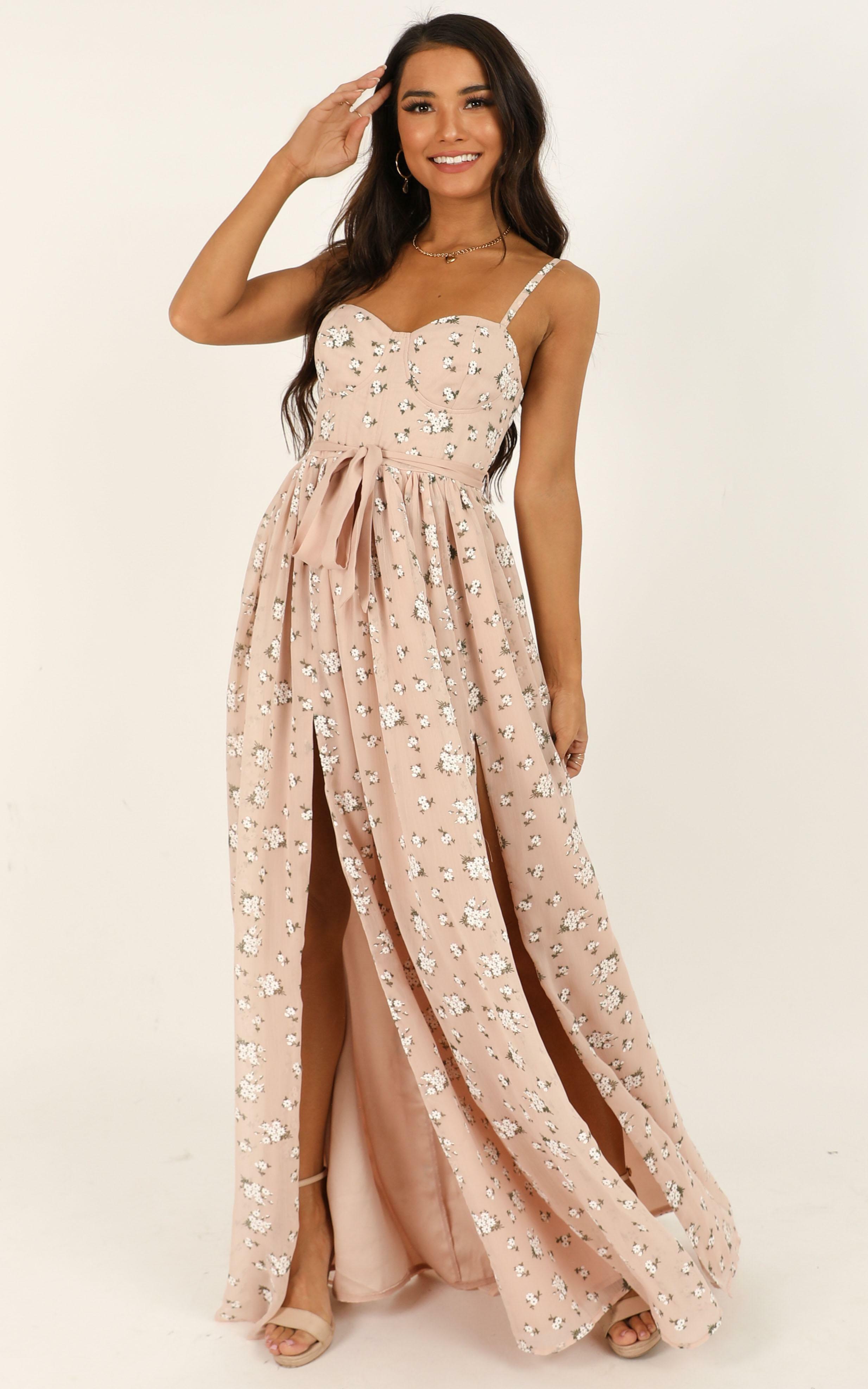 Tear Drops Dress in blush floral - 14 (XL), Blush, hi-res image number null