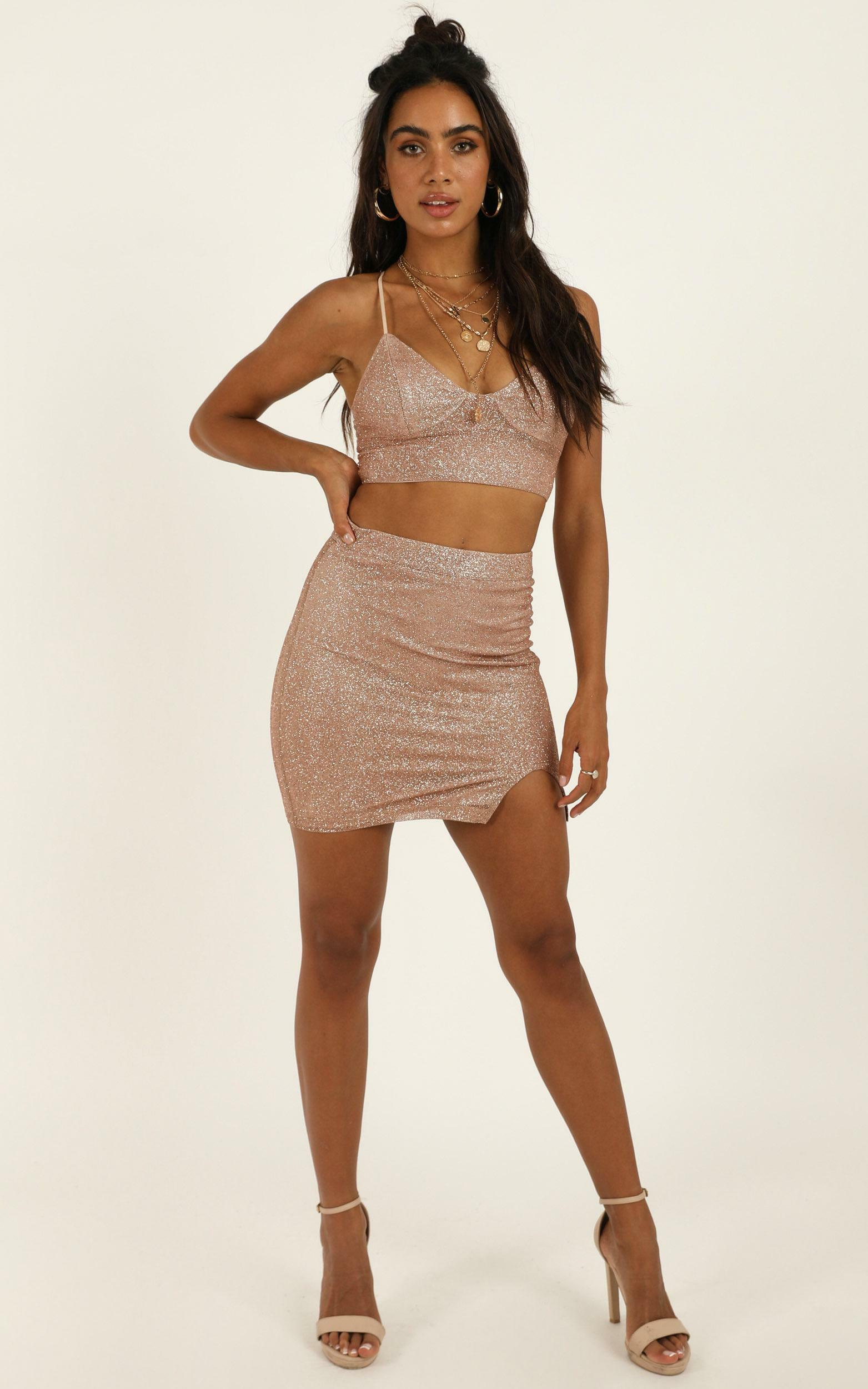 A Daring Adventure two piece set in rose gold glitter - 12 (L), Rose Gold, hi-res image number null