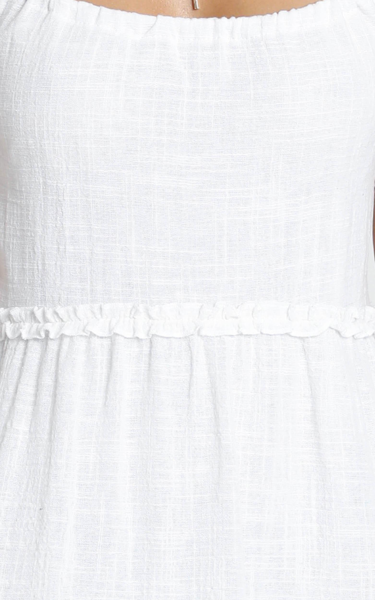Nadia Tiered Smock Dress in white - 14 (XL), White, hi-res image number null