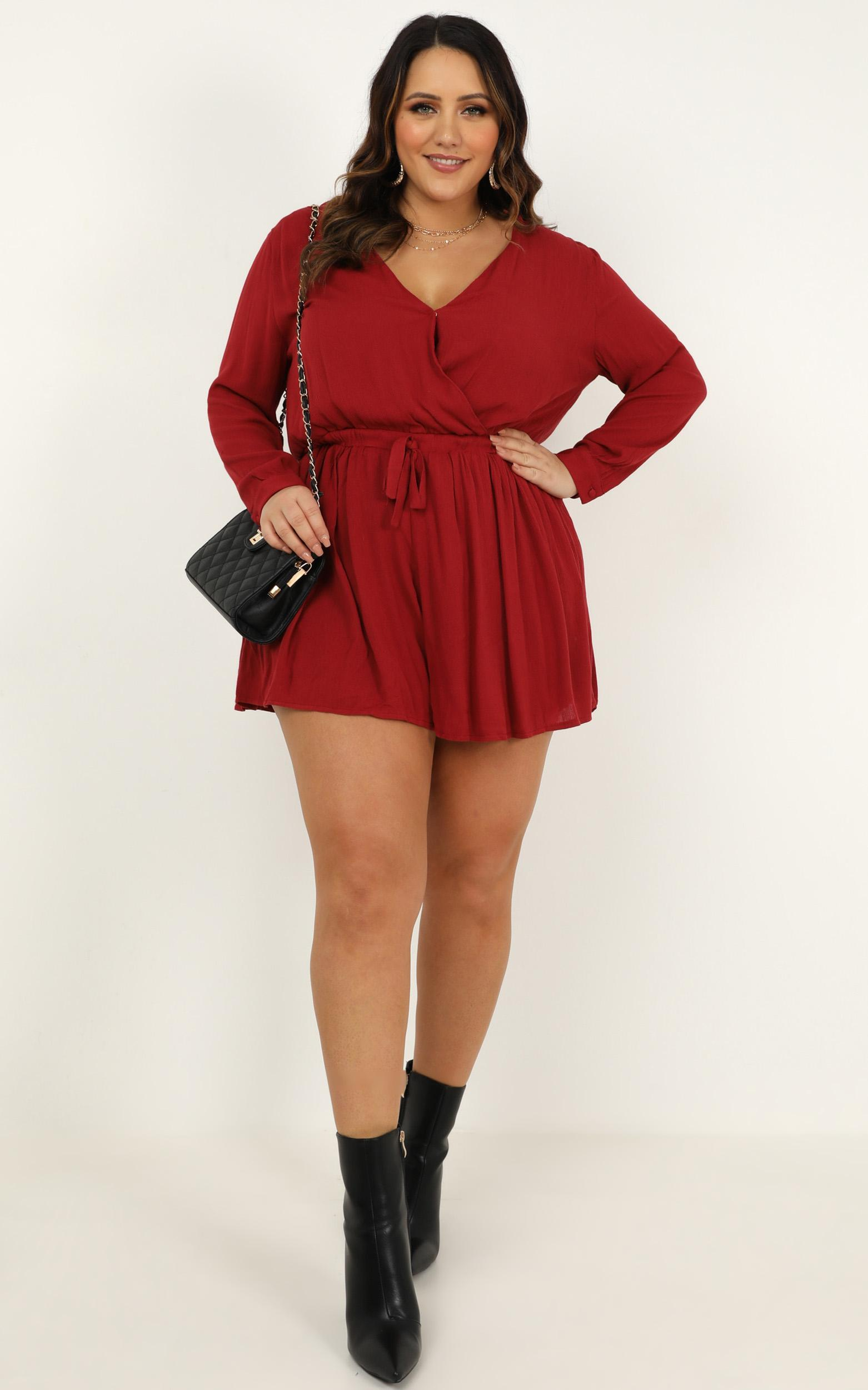 Maybe Once Playsuit in wine - 20 (XXXXL), Wine, hi-res image number null