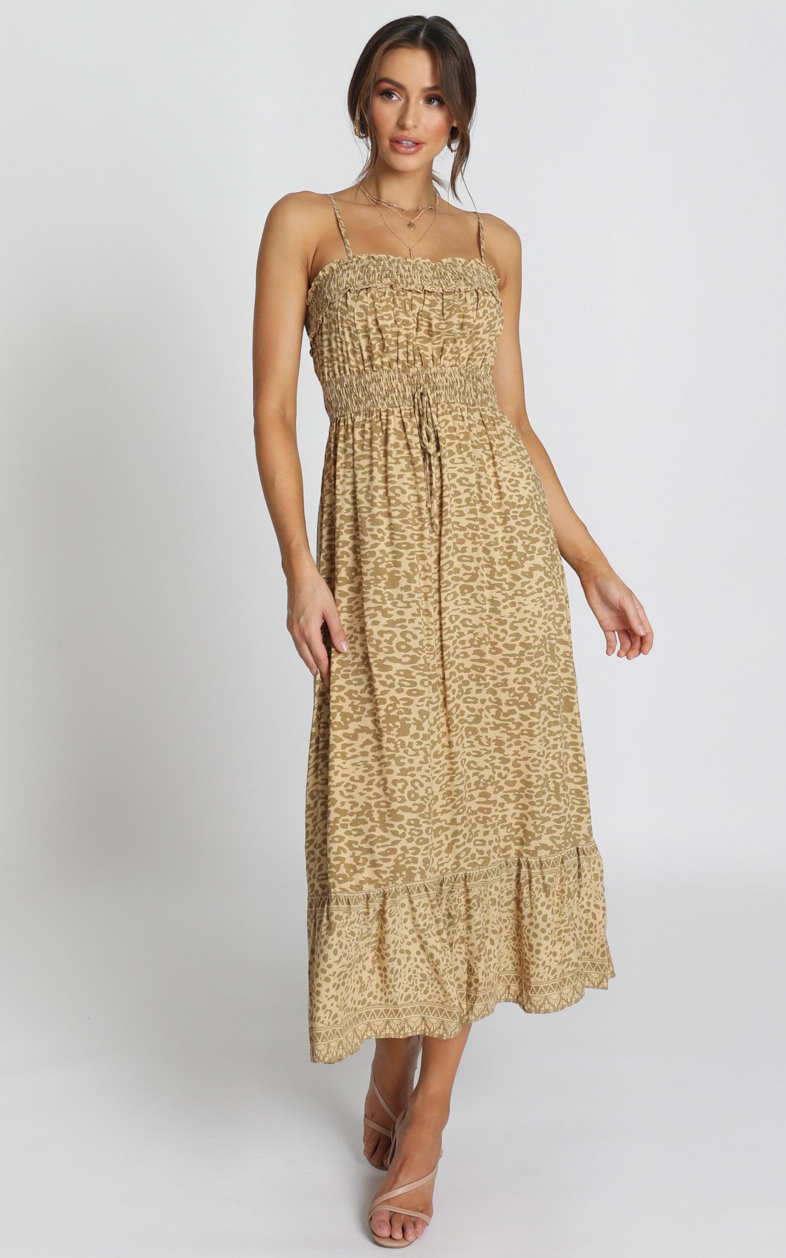 Dakotah Dress in leopard print - 14 (XL), Brown, hi-res image number null