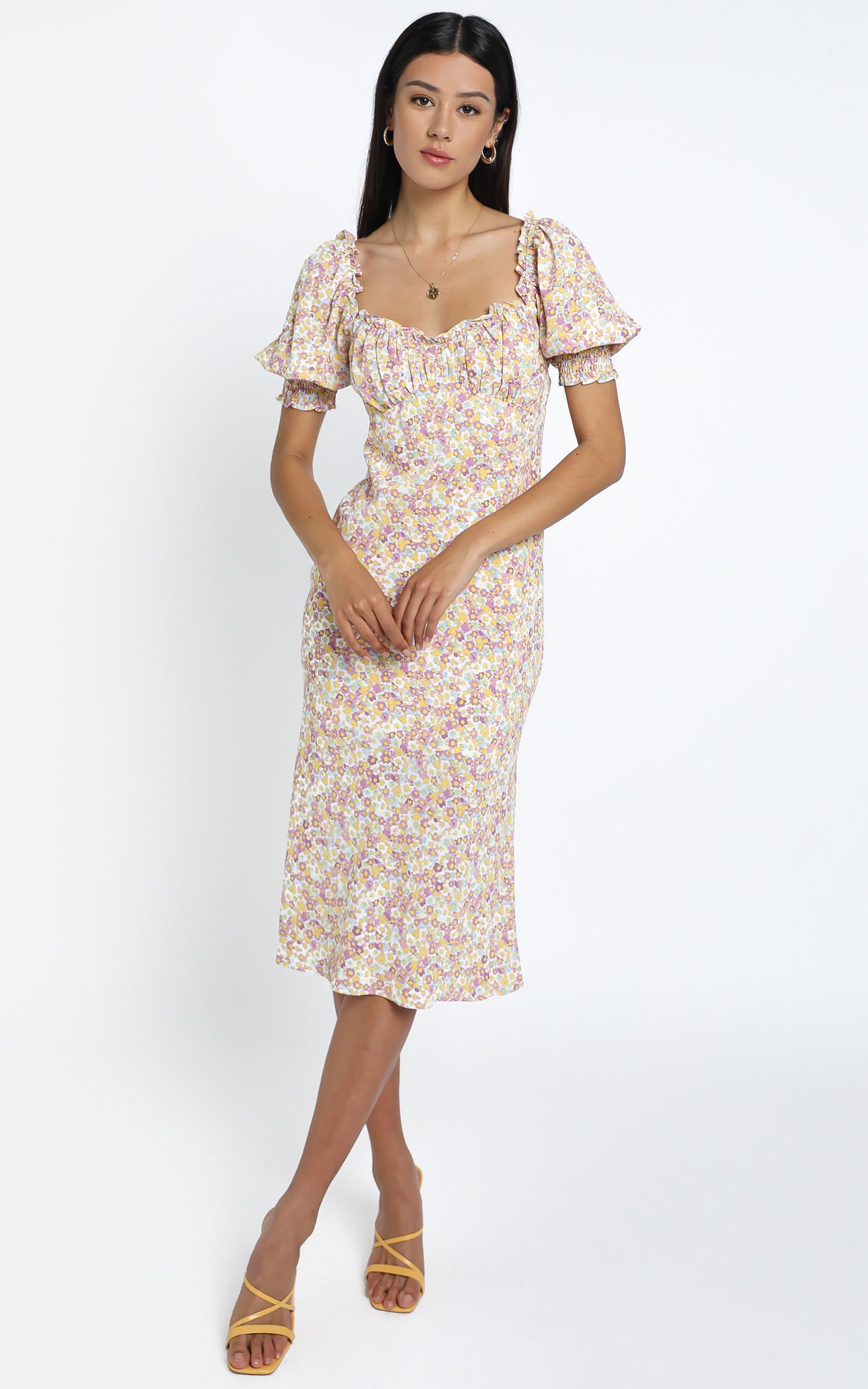 Koby Dress in Pink Floral - 14 (XL), Pink, hi-res image number null